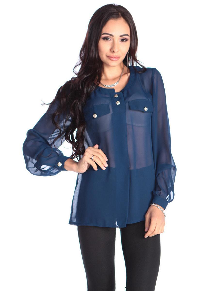 Блуза темно-синяя | 4655976