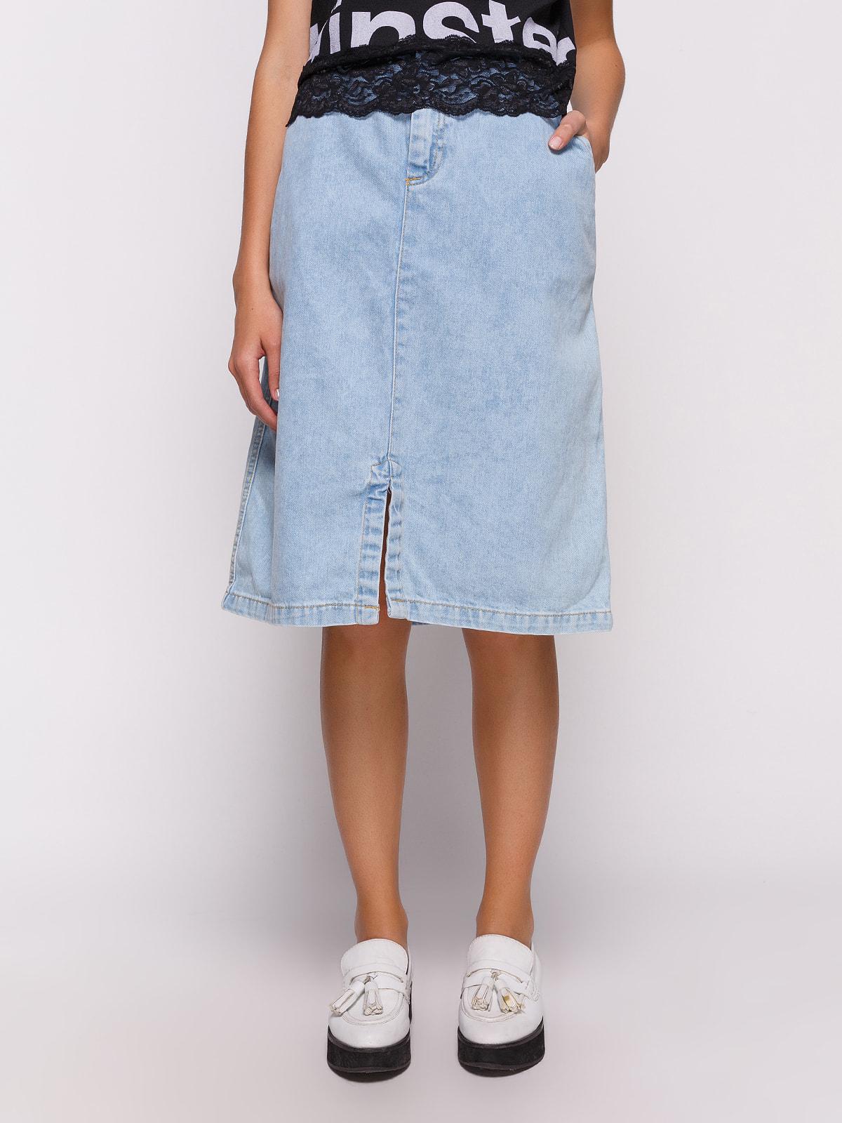 Юбка голубая джинсовая | 4631102