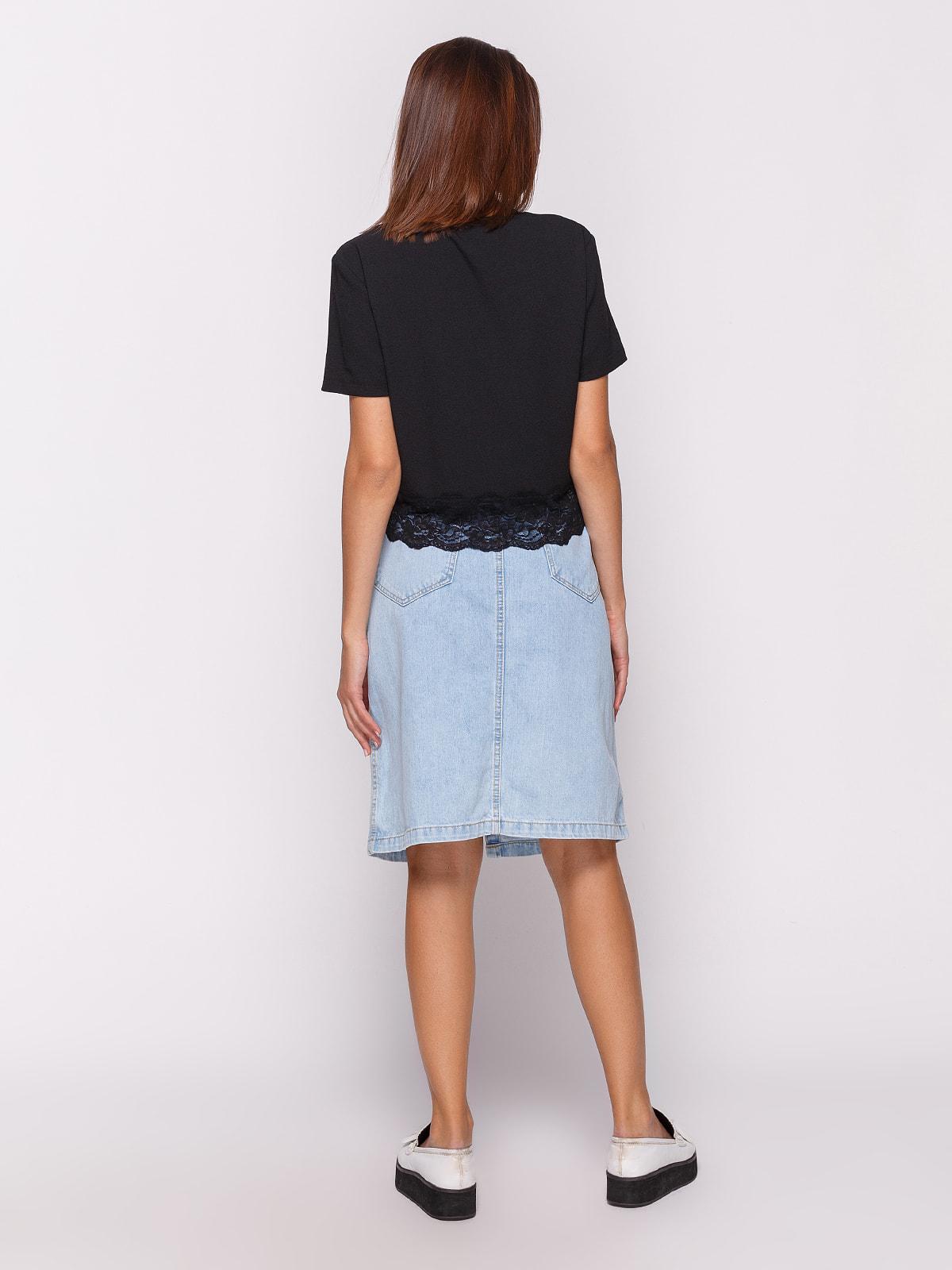 Юбка голубая джинсовая | 4631102 | фото 3