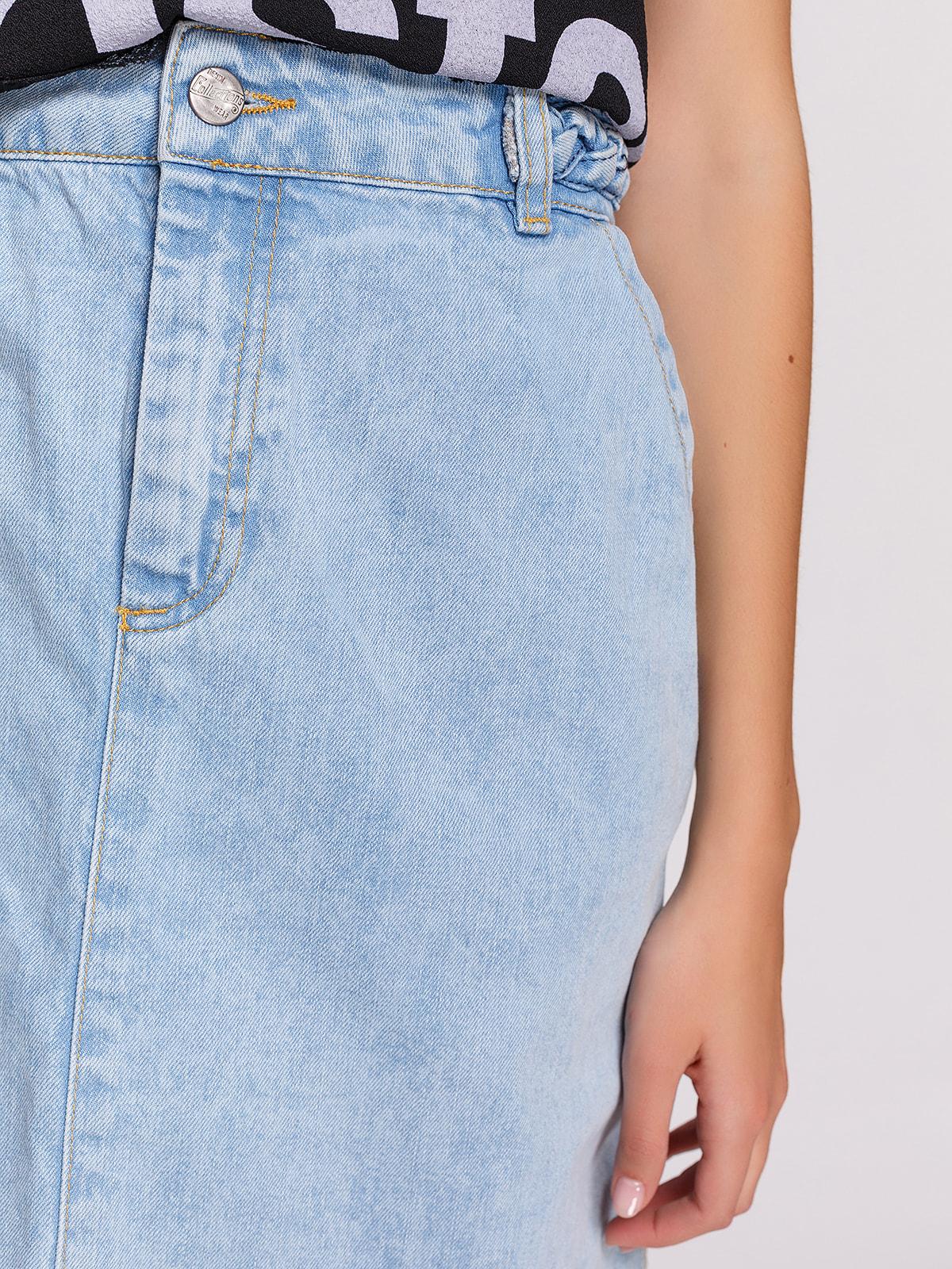 Юбка голубая джинсовая | 4631102 | фото 4