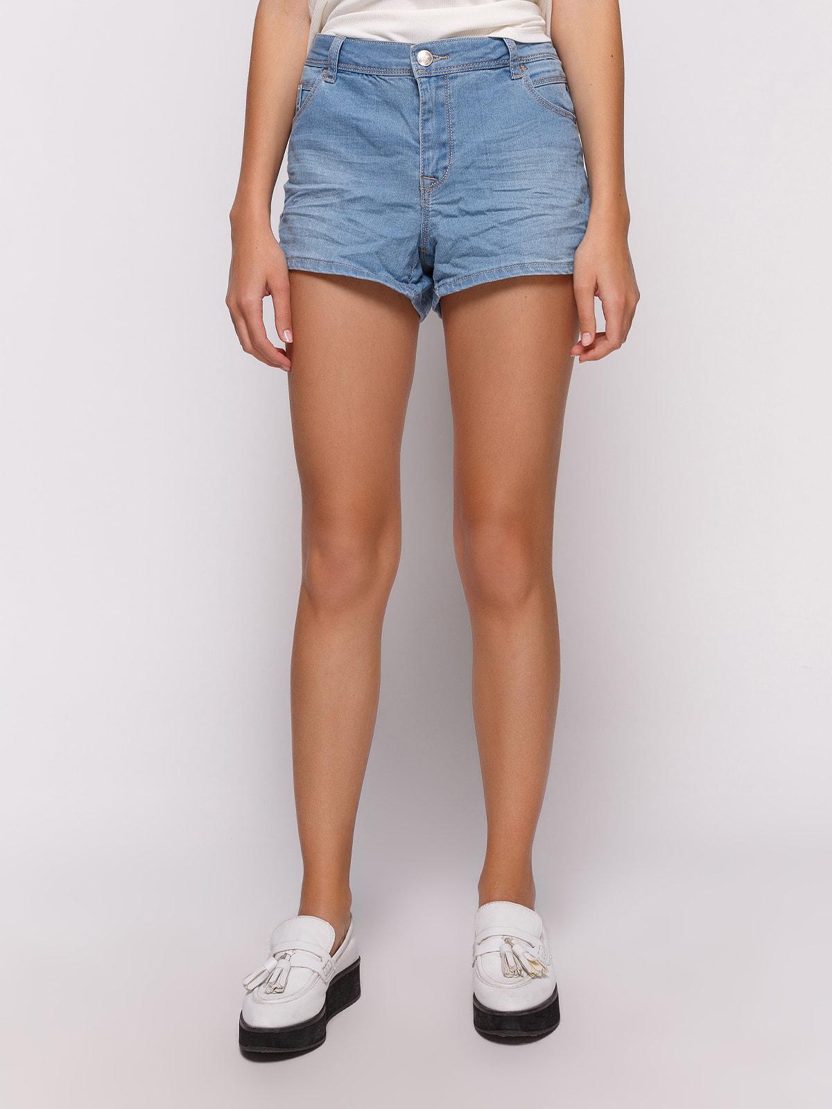 Шорты голубые джинсовые | 4627330