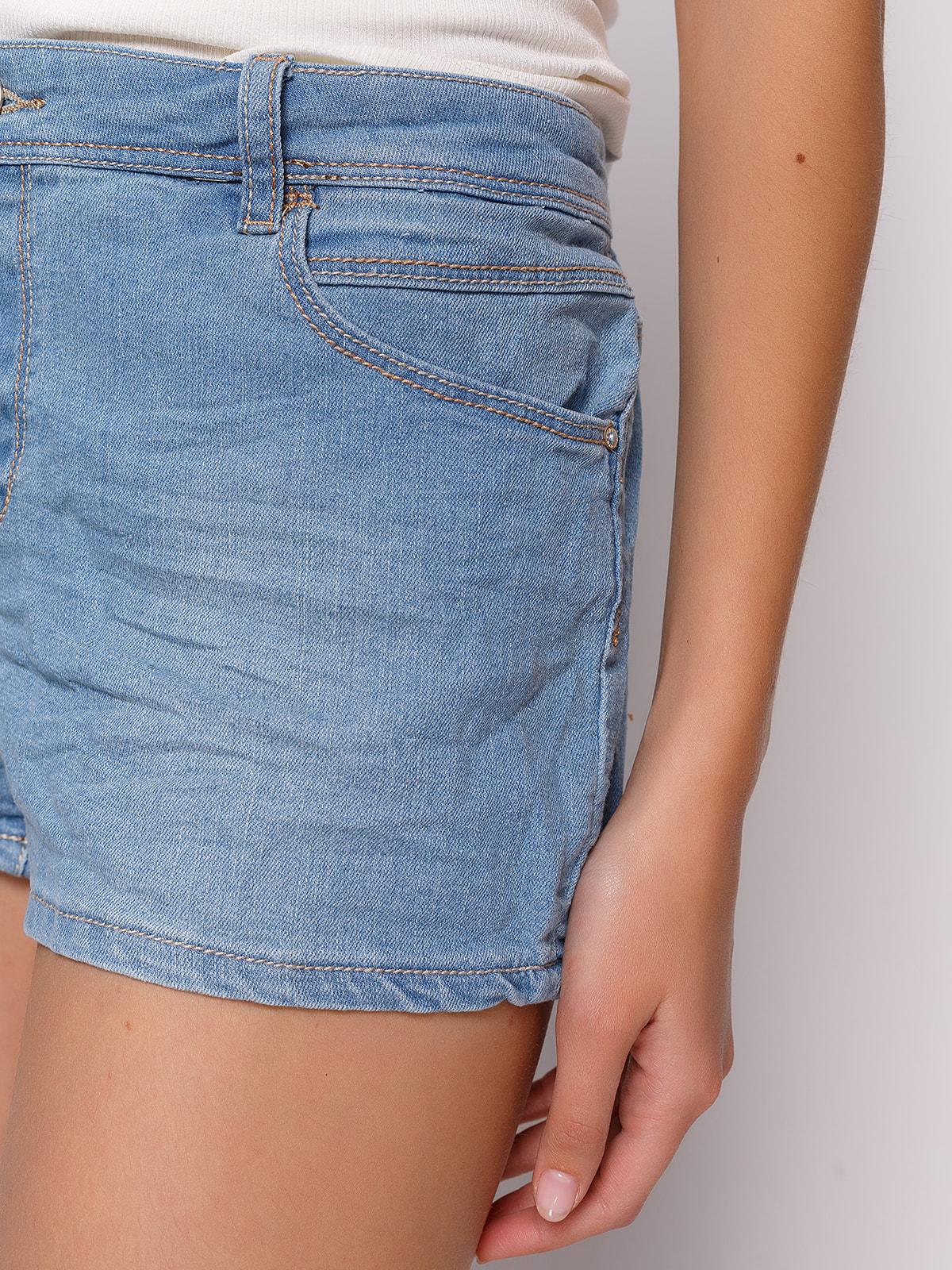 Шорты голубые джинсовые | 4627330 | фото 4