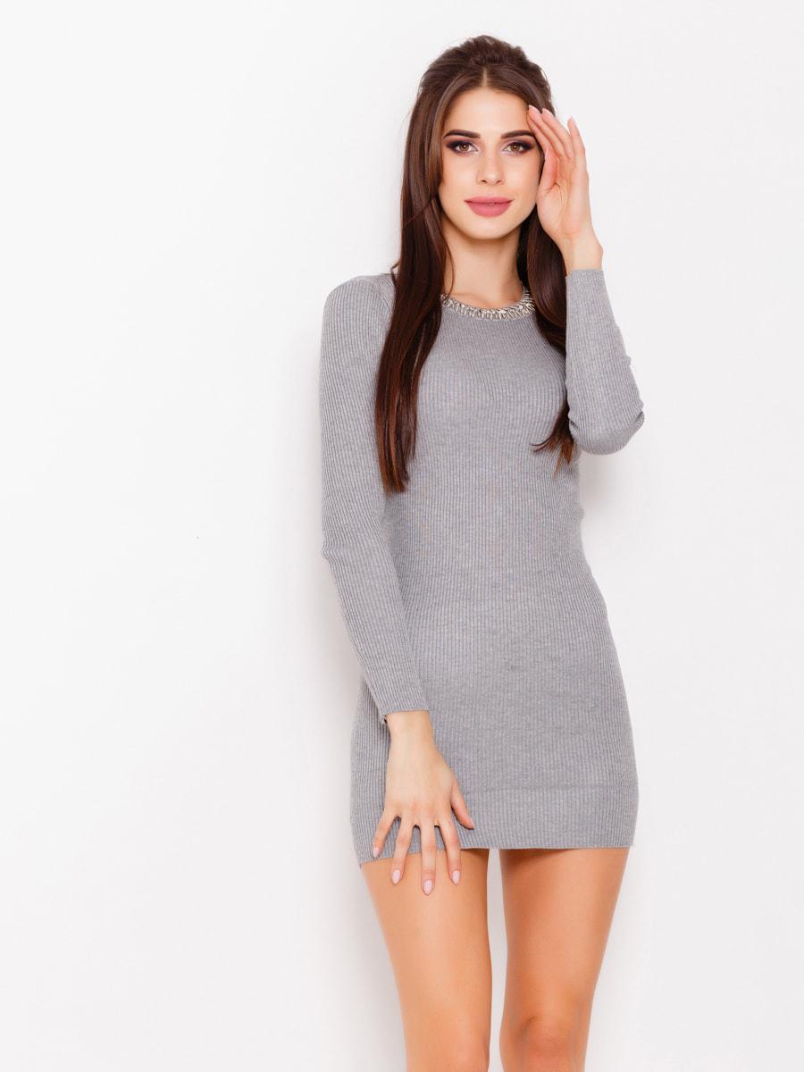 Платье серое   4678609