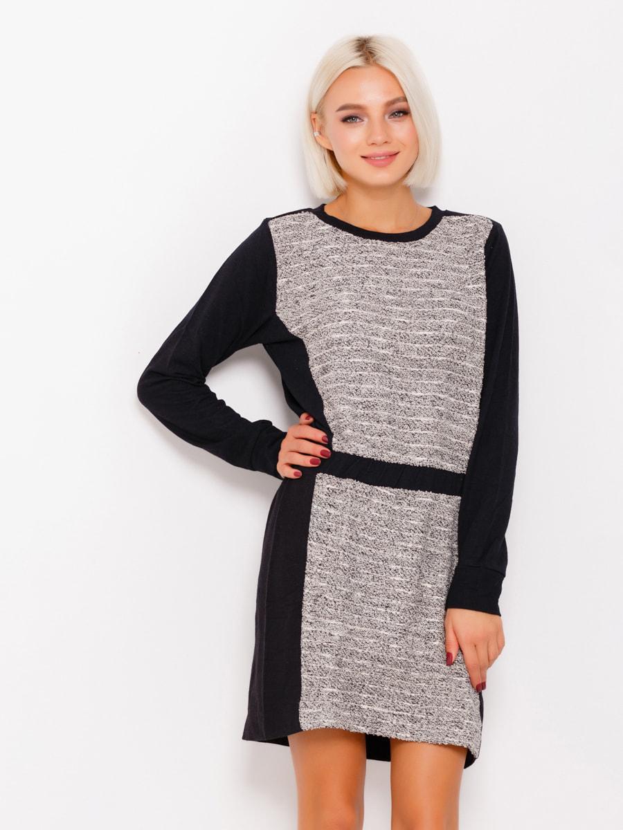 Платье черно-серое | 4678643