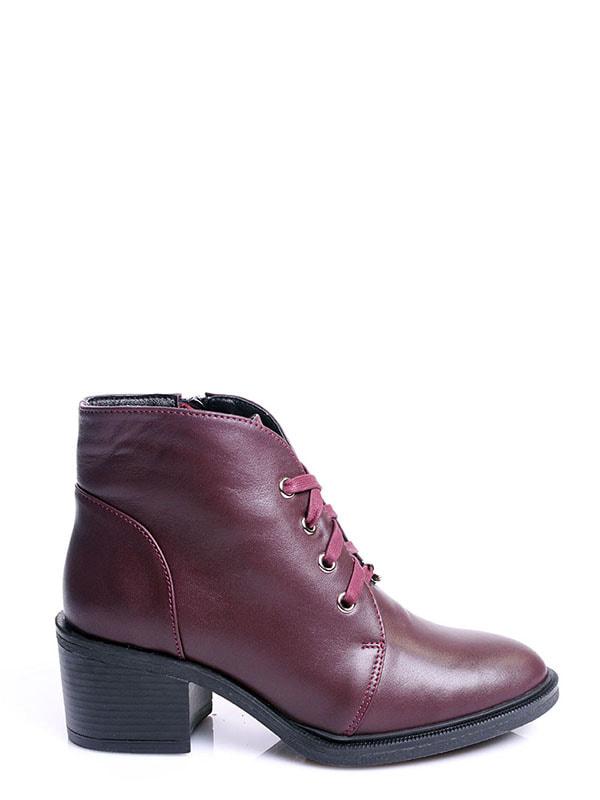 Ботинки бордовые | 4678691