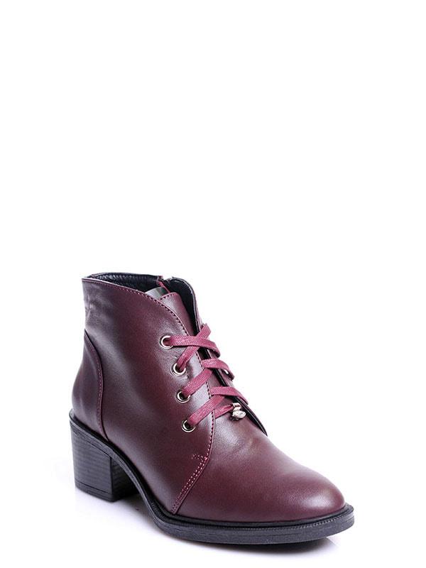Ботинки бордовые | 4678691 | фото 2