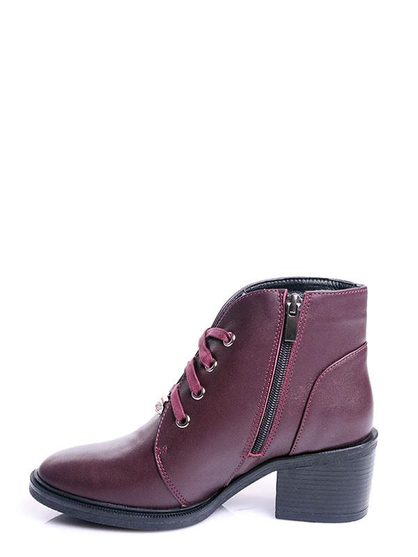 Ботинки бордовые | 4678691 | фото 3