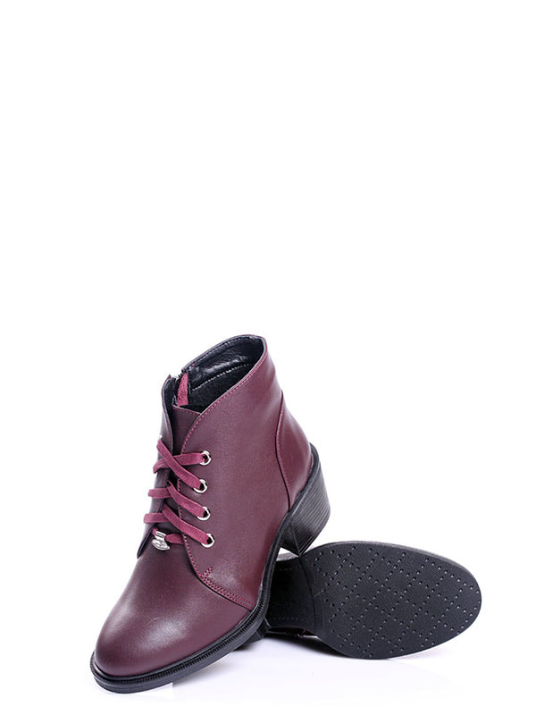 Ботинки бордовые | 4678691 | фото 5