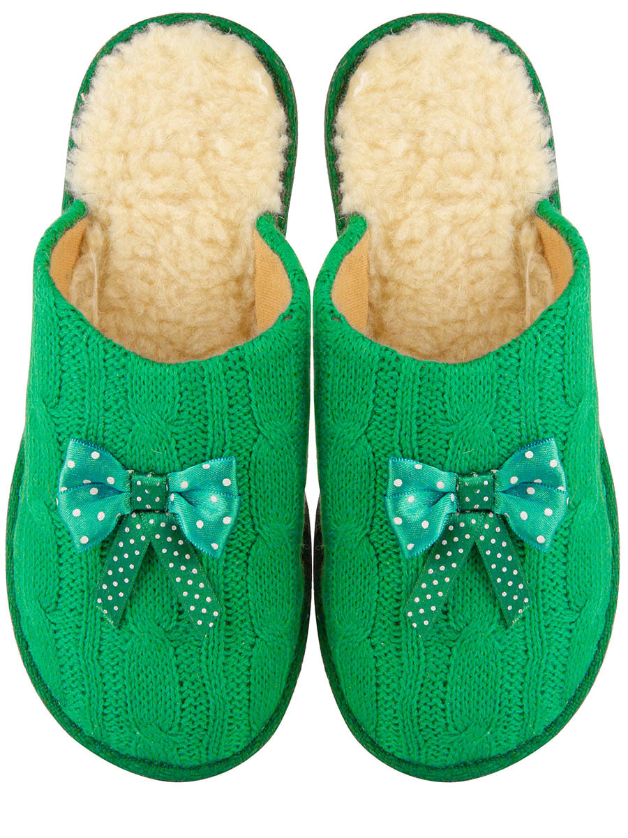 Тапочки зеленые   4679492