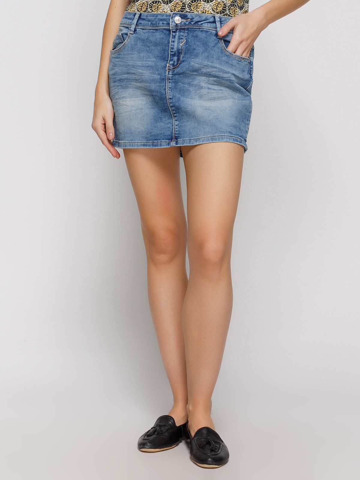 Юбка синяя джинсовая   4631074