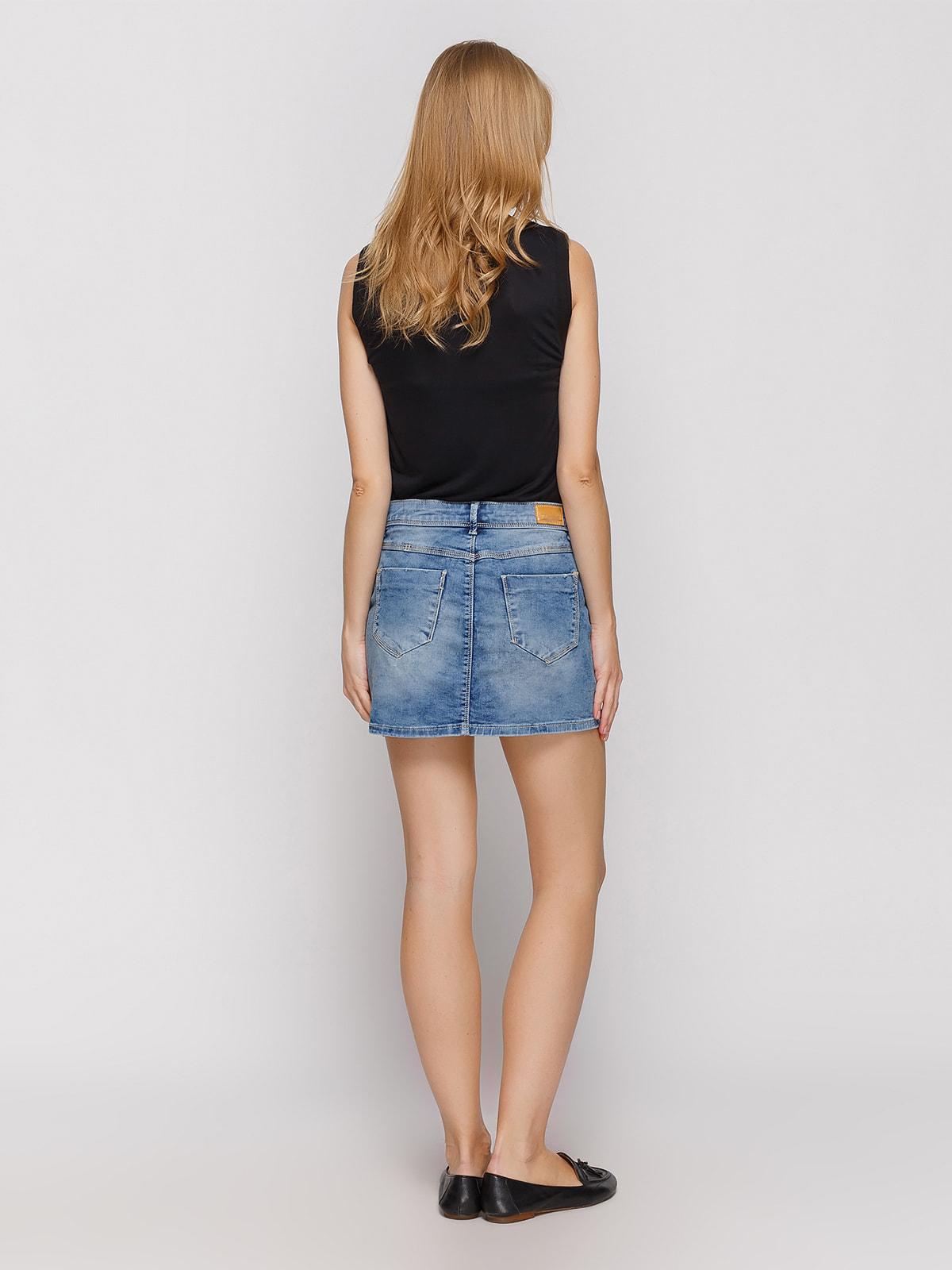 Юбка синяя джинсовая   4631074   фото 3
