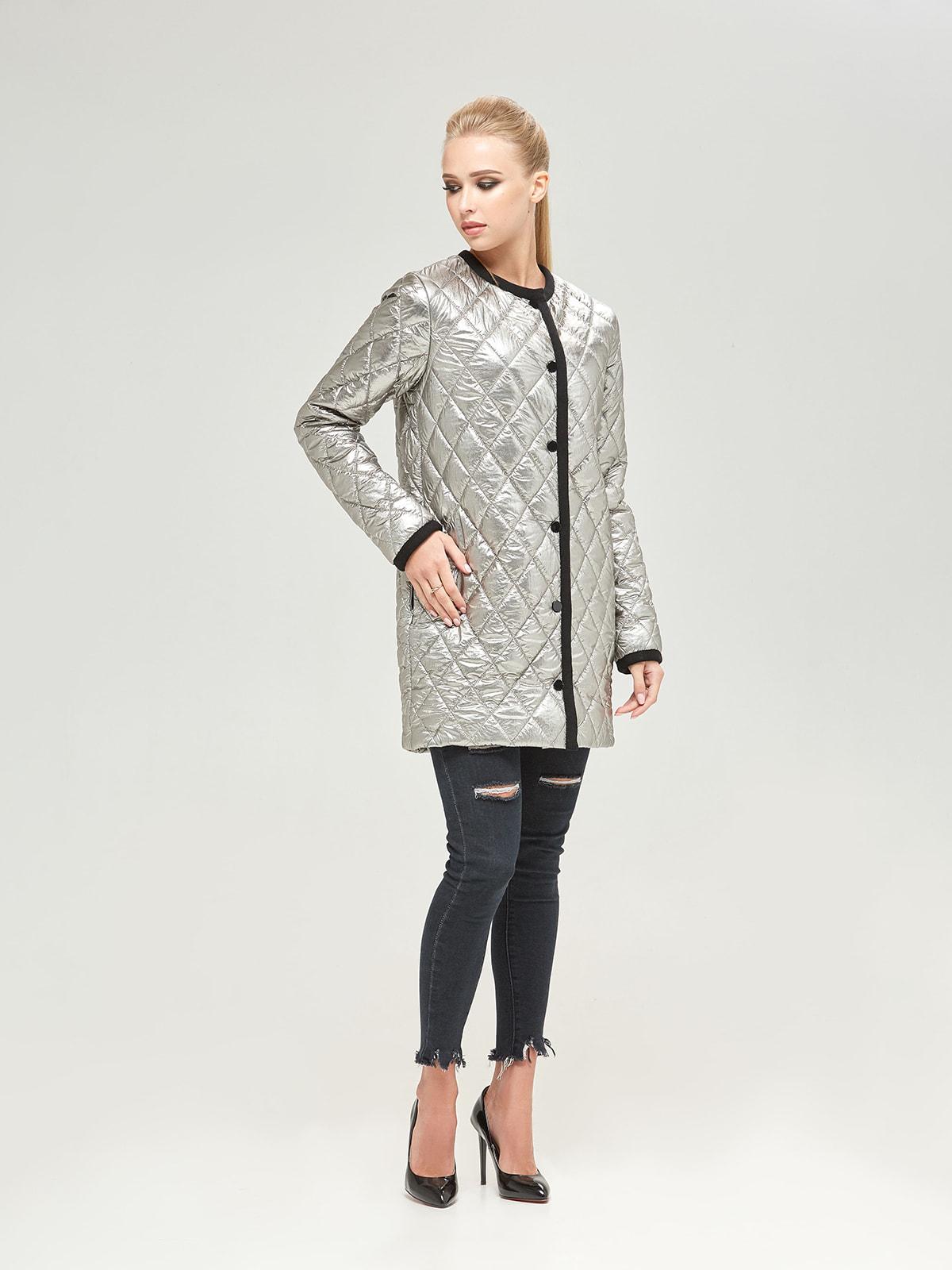 Куртка кольору платини | 4680365