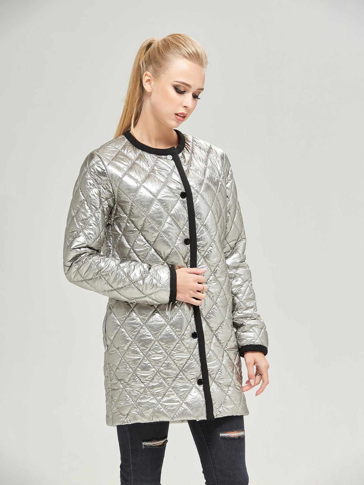Куртка кольору платини | 4680365 | фото 3