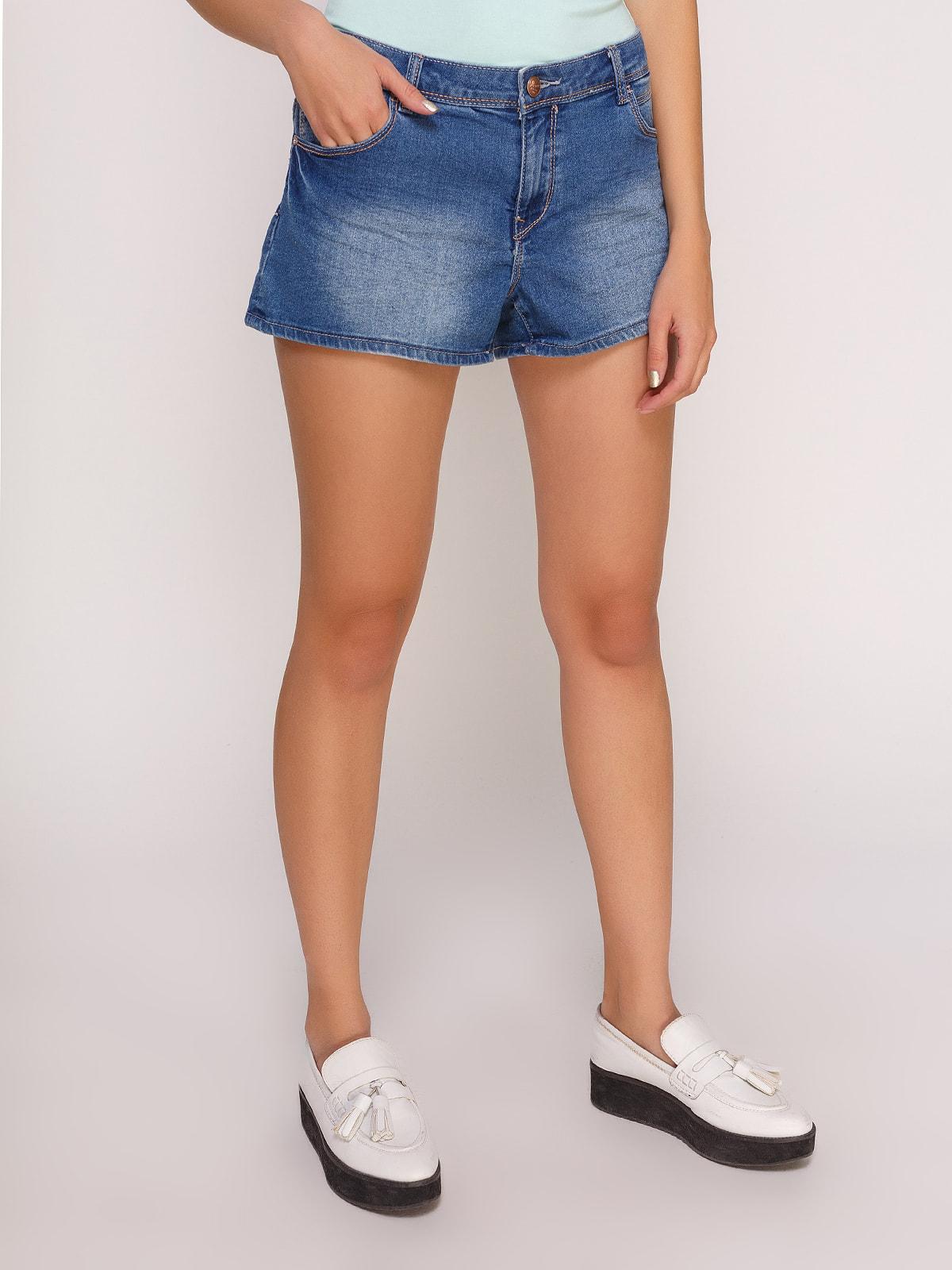 Шорты синие джинсовые | 4627351