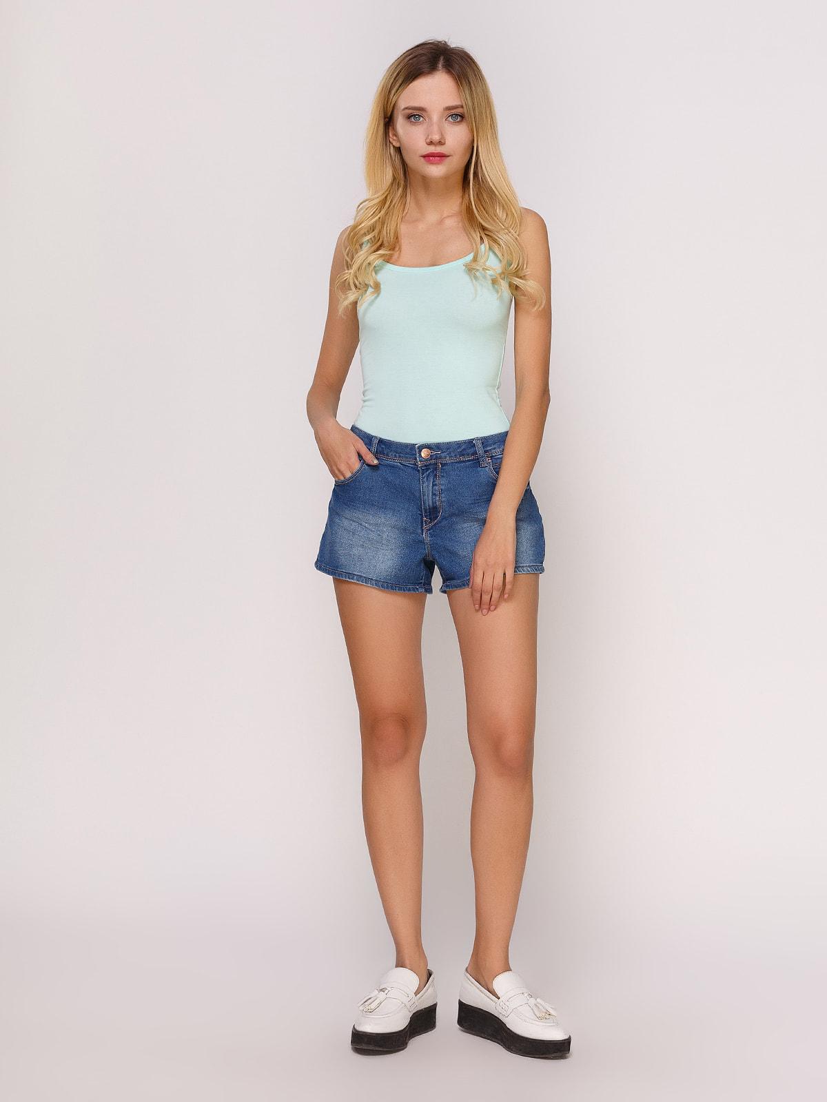Шорты синие джинсовые | 4627351 | фото 2