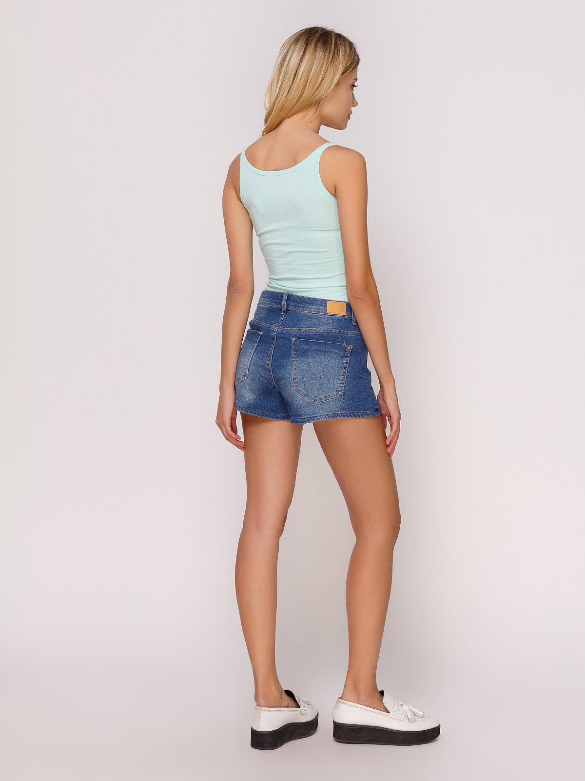 Шорты синие джинсовые | 4627351 | фото 3