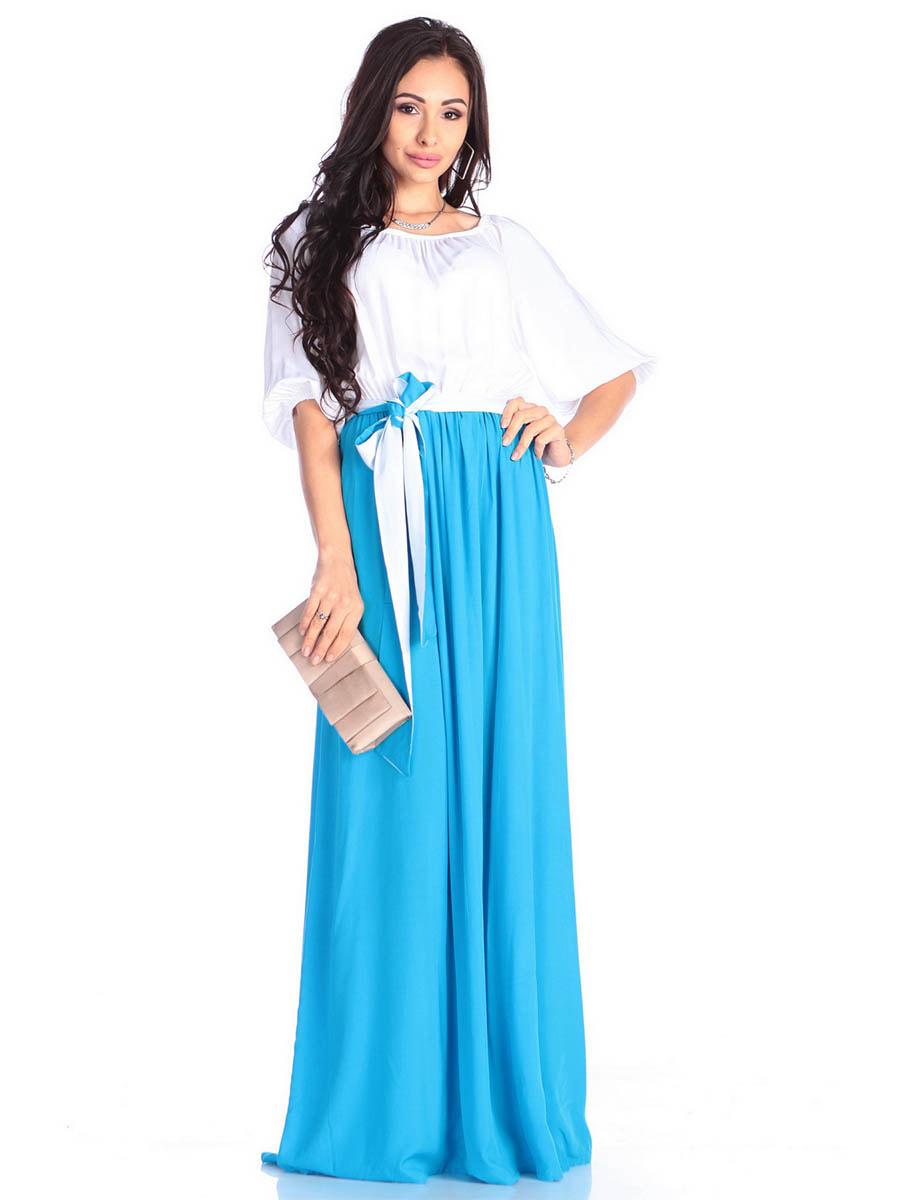 Платье молочно-голубого цвета | 4677393