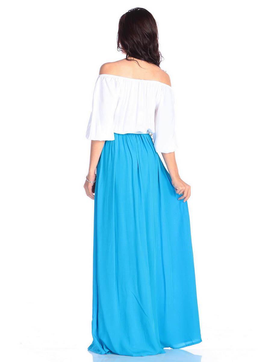 Платье молочно-голубого цвета | 4677393 | фото 2