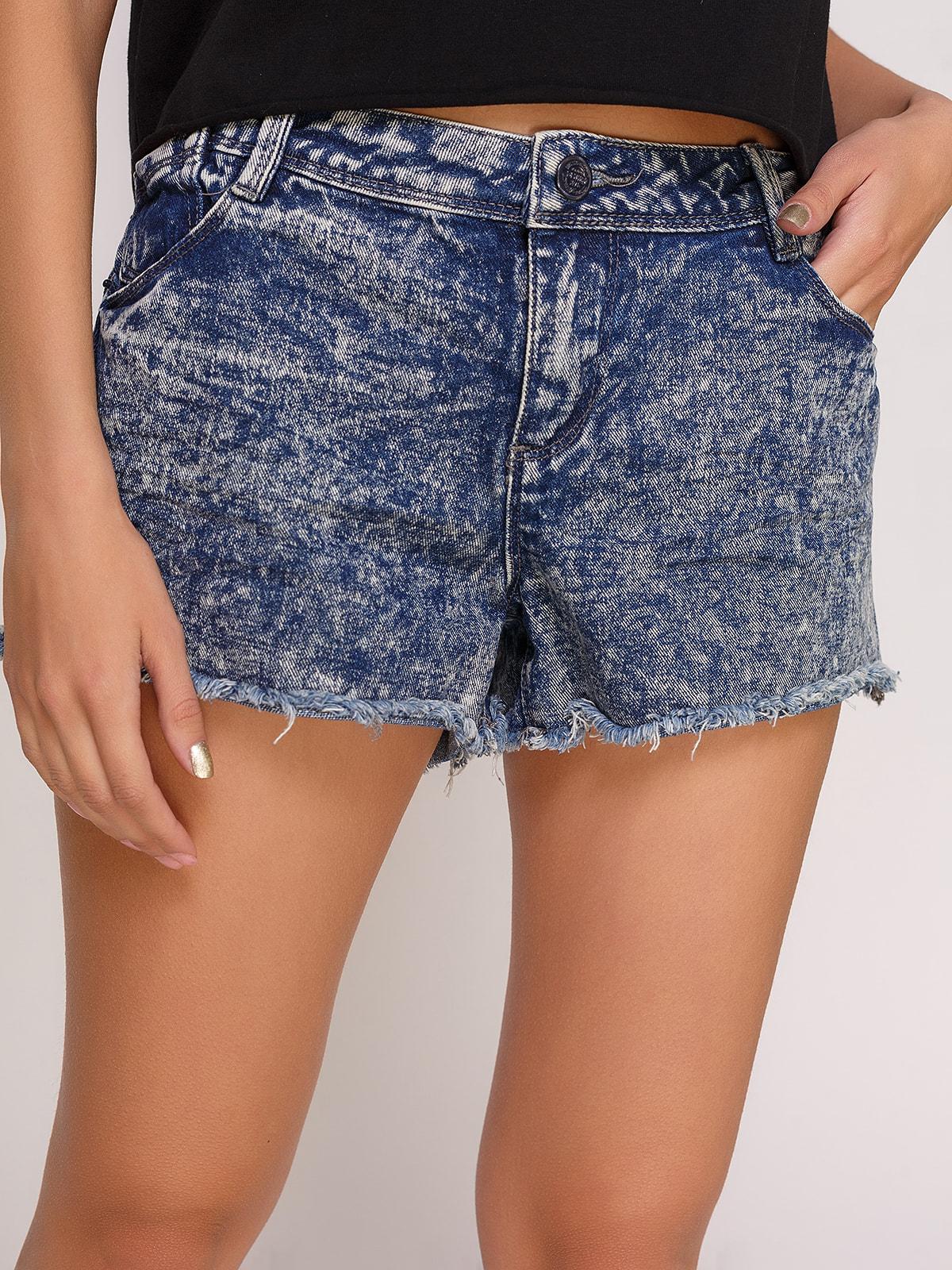 Шорты синие джинсовые | 4630573 | фото 4