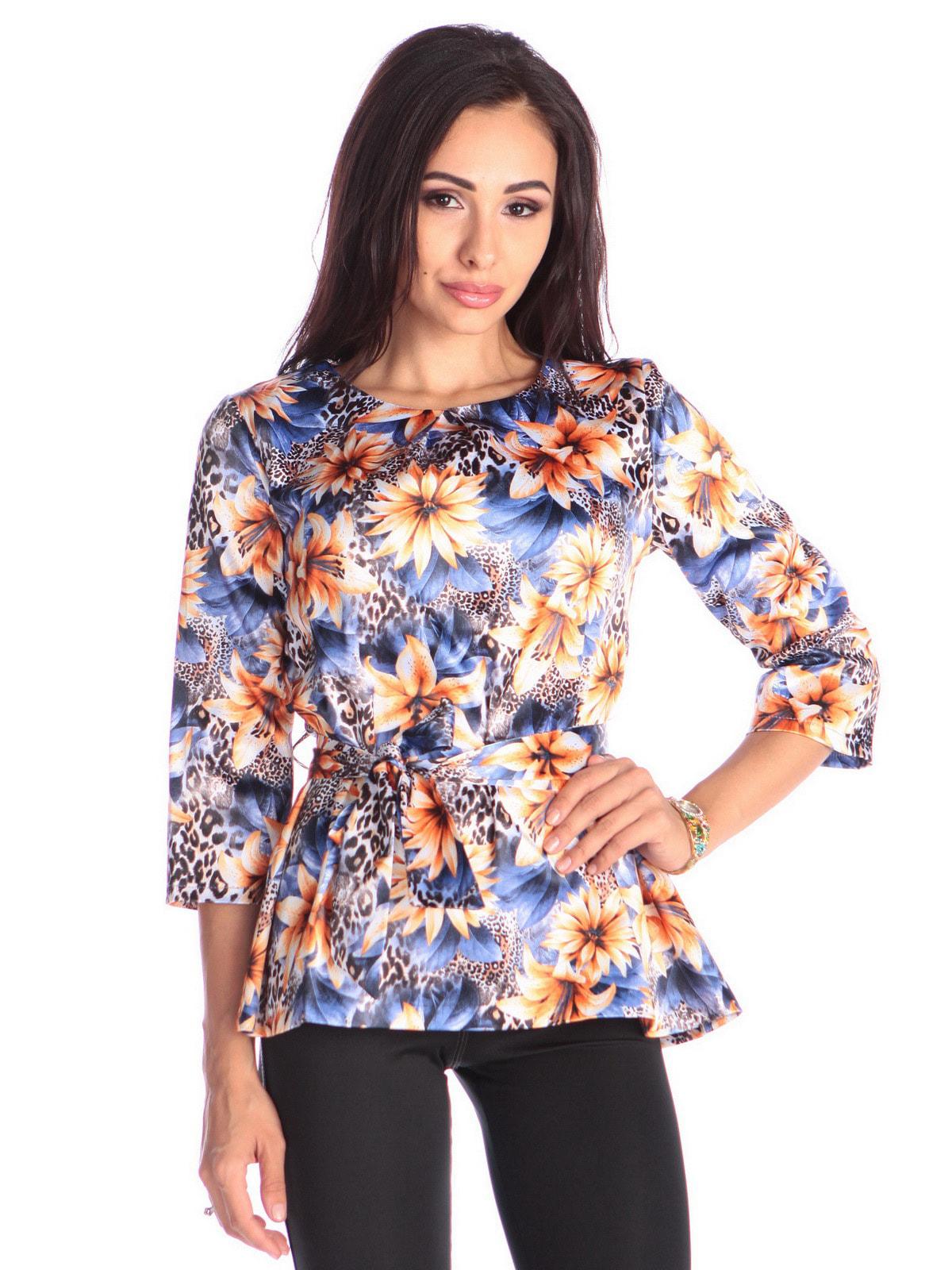 Блуза в квітковий принт | 4683276