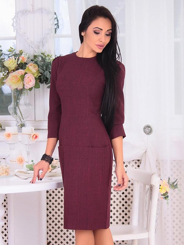 Платье сливового цвета | 4655966