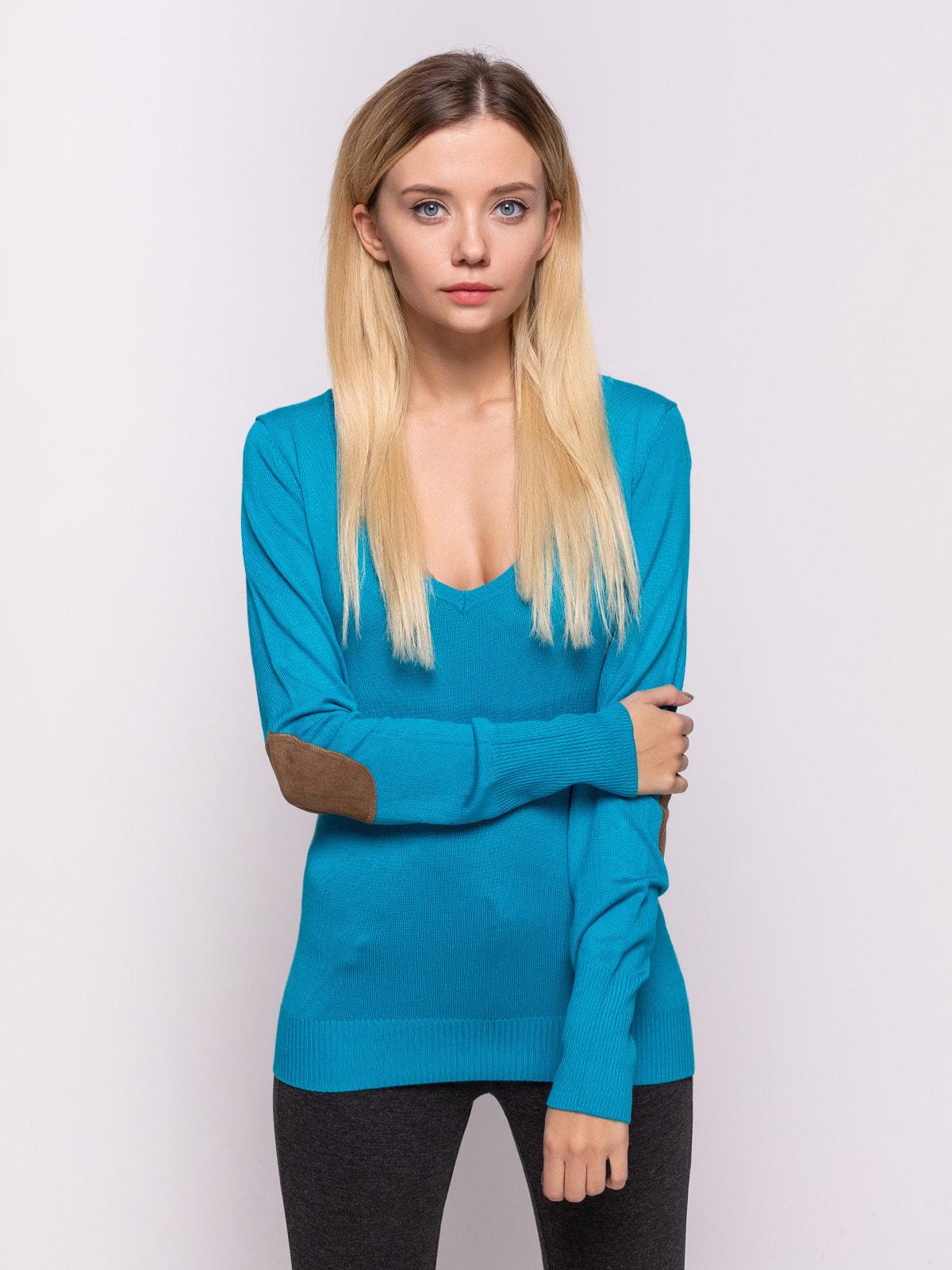 Пуловер голубой | 4626861