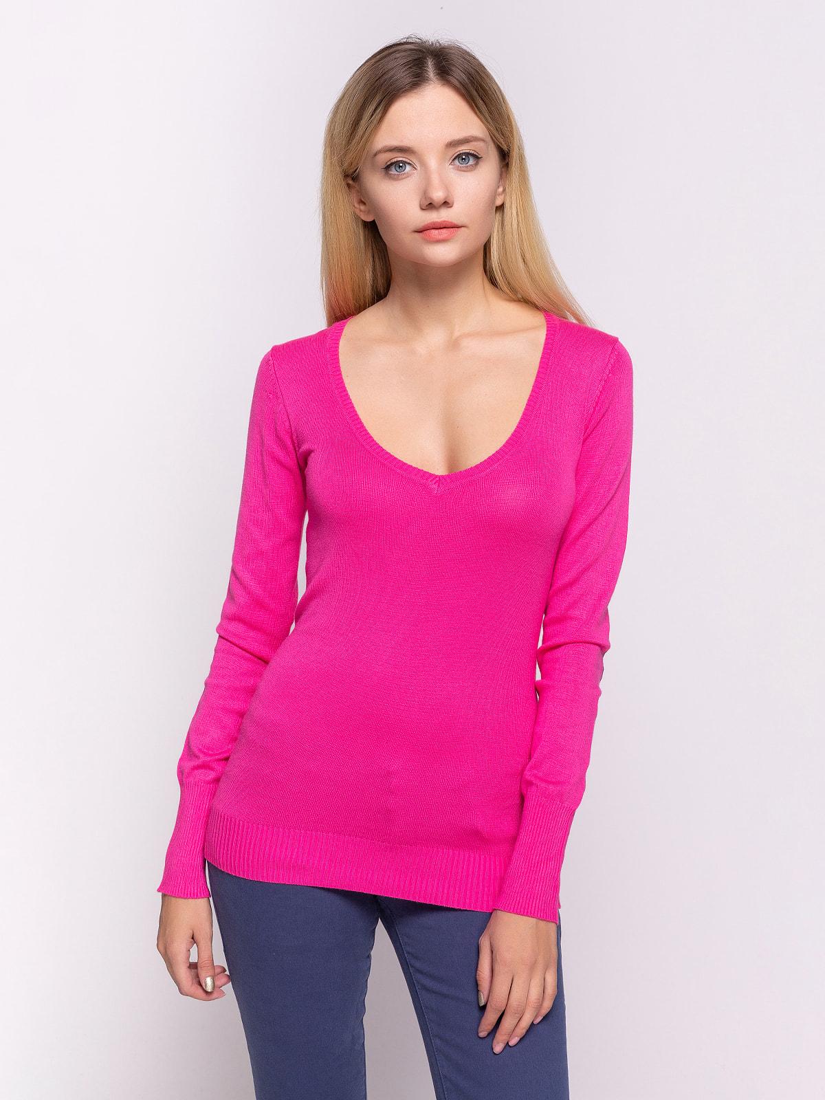 Пуловер кольору фуксії | 4623624