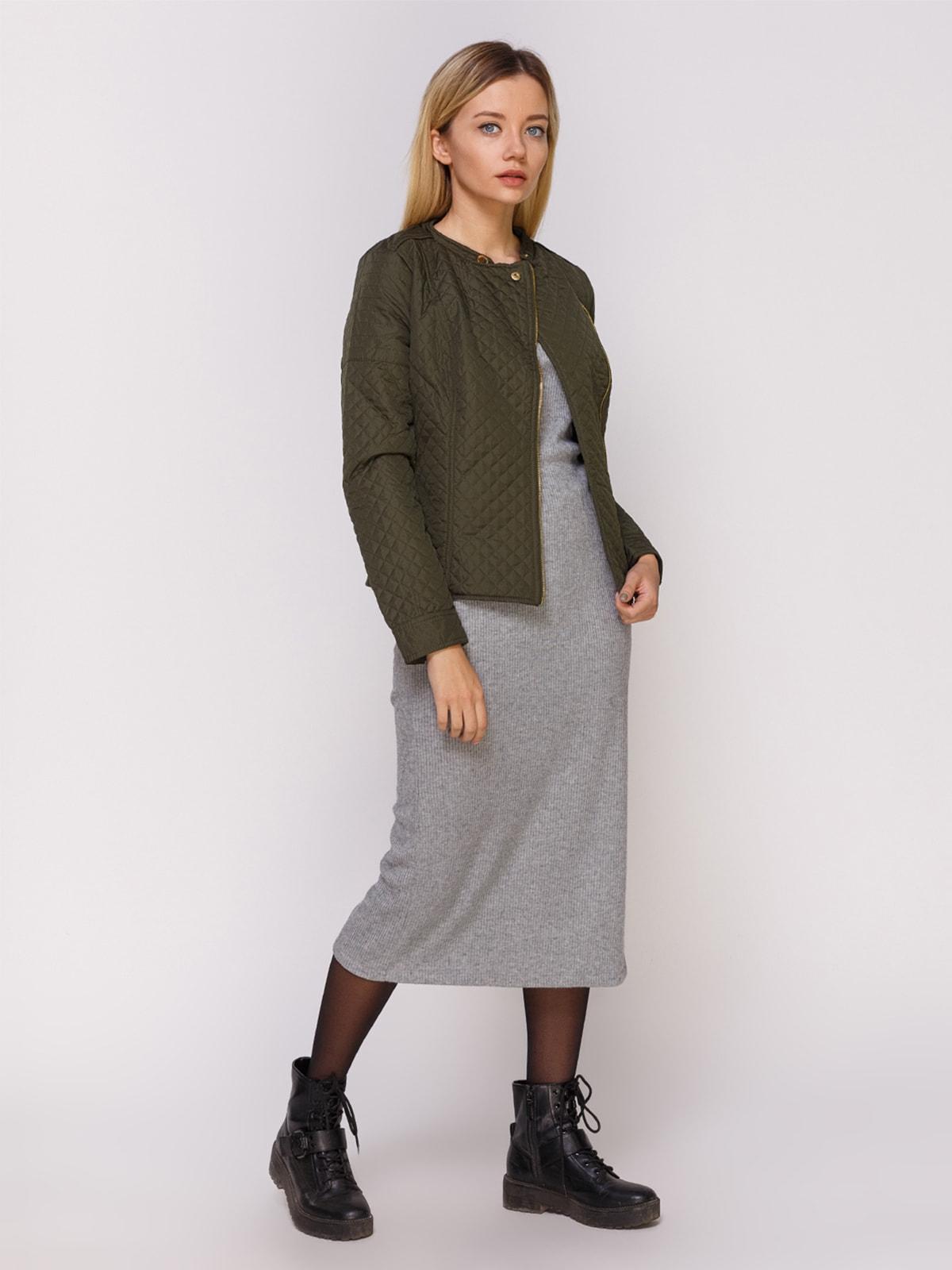 Куртка оливкового цвета | 4626889 | фото 2