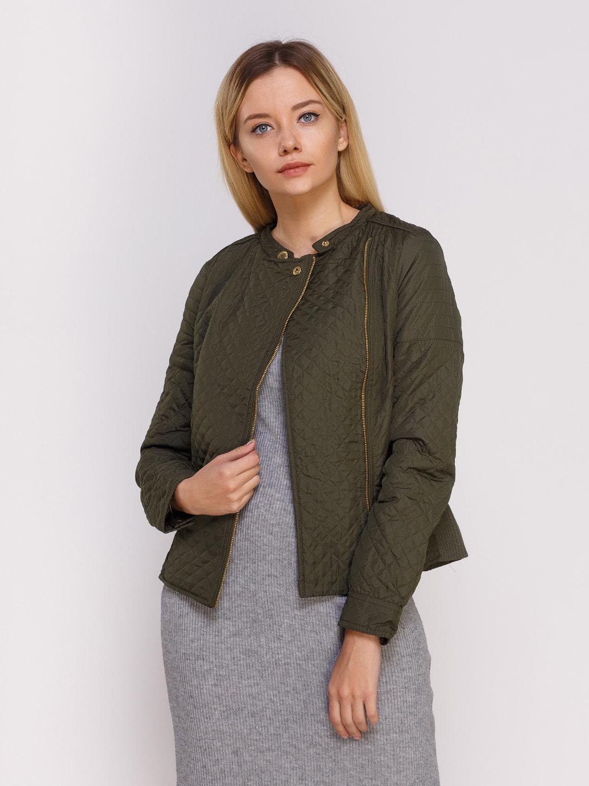 Куртка оливкового кольору | 4626889