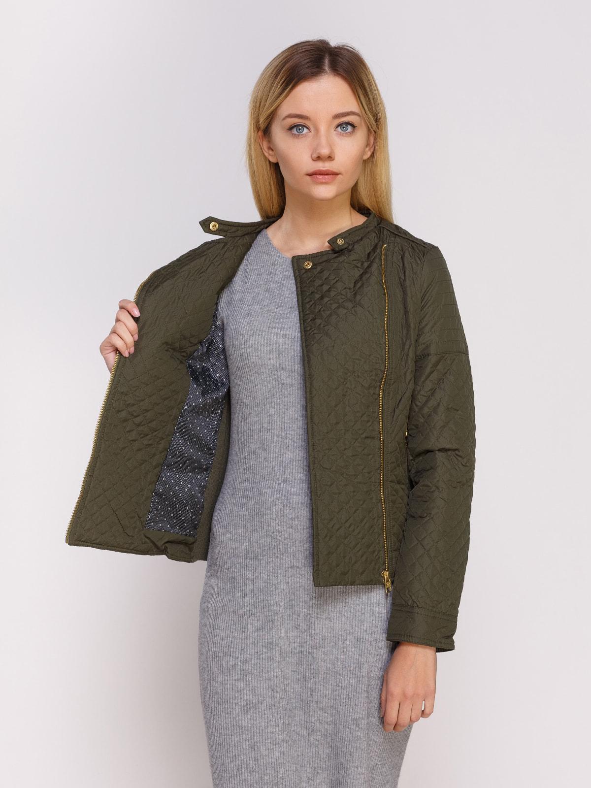 Куртка оливкового цвета | 4626889 | фото 4