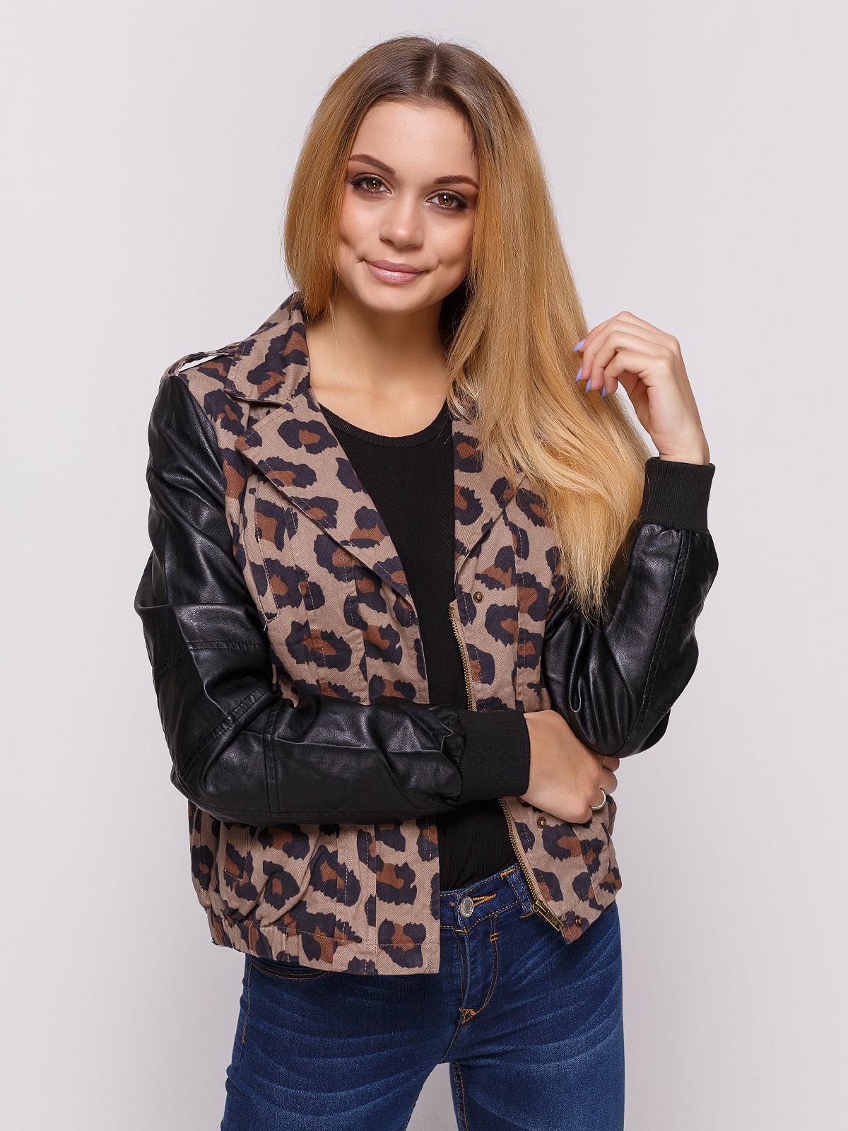 Куртка с анималистическим принтом   4641815
