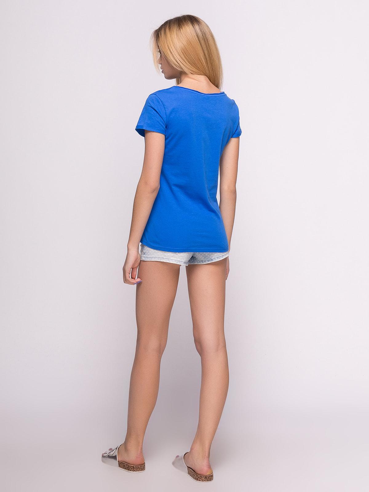Шорты синие джинсовые | 4634955 | фото 3