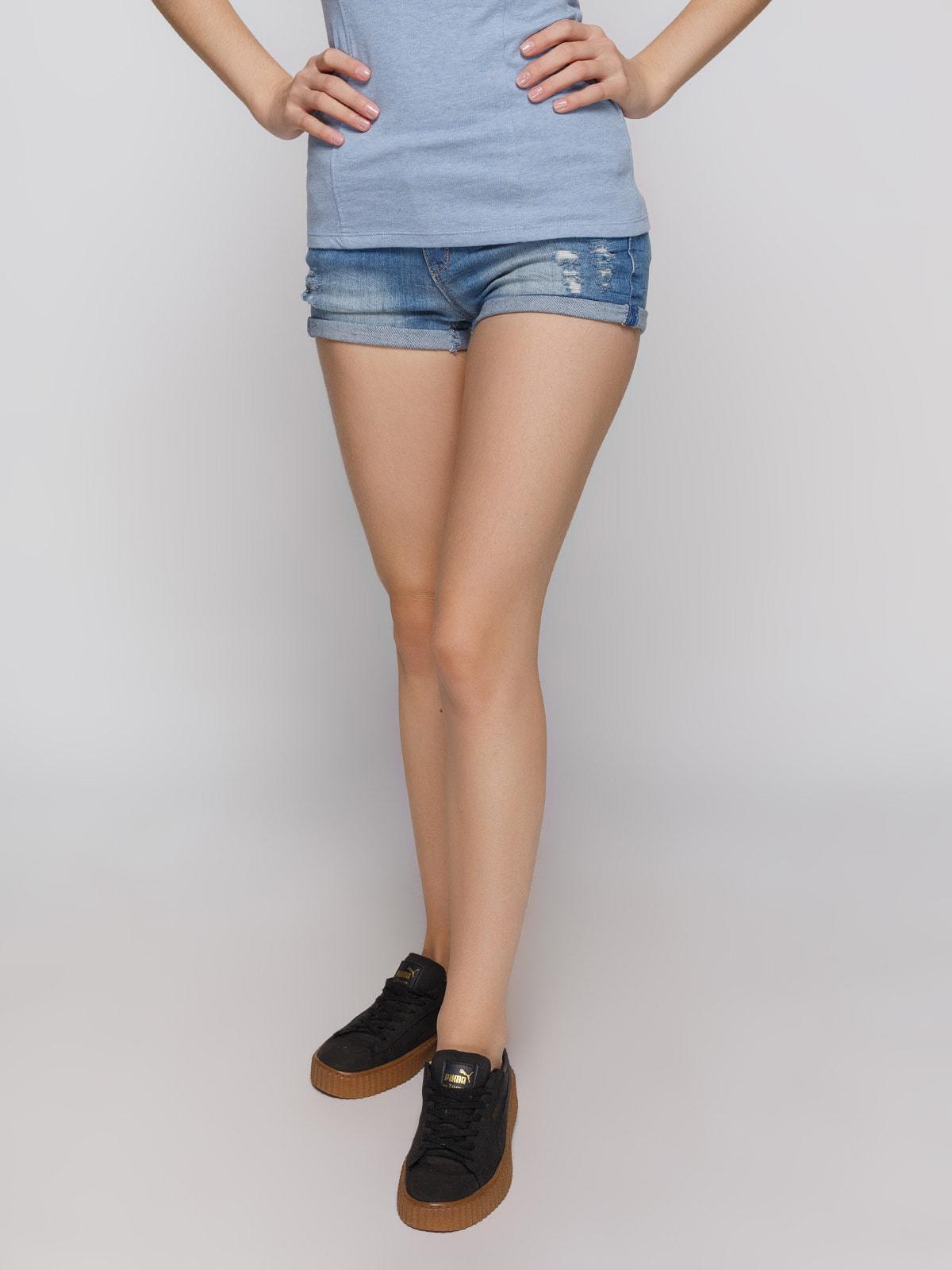 Шорты синие джинсовые   4625095
