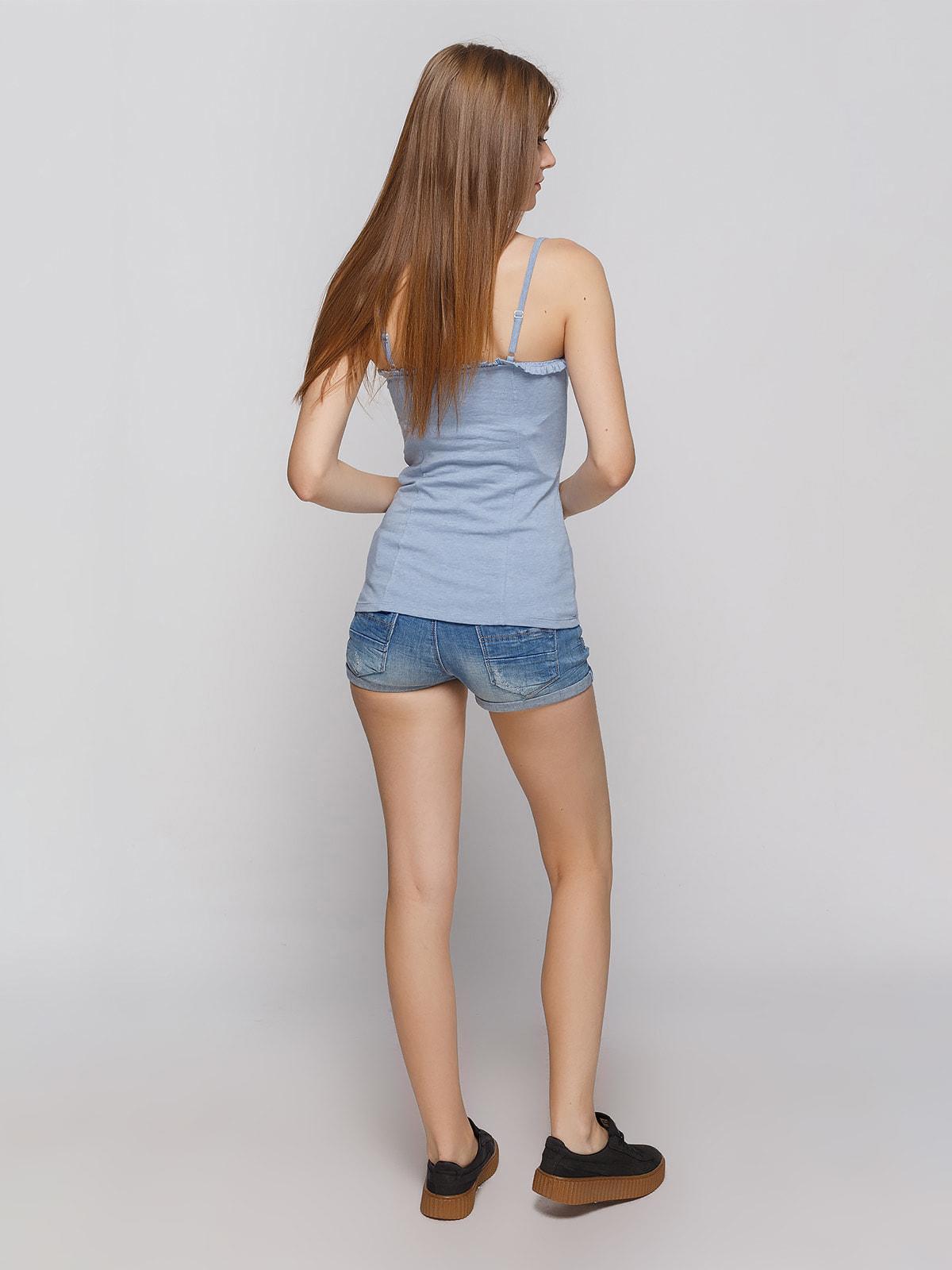 Шорты синие джинсовые   4625095   фото 3