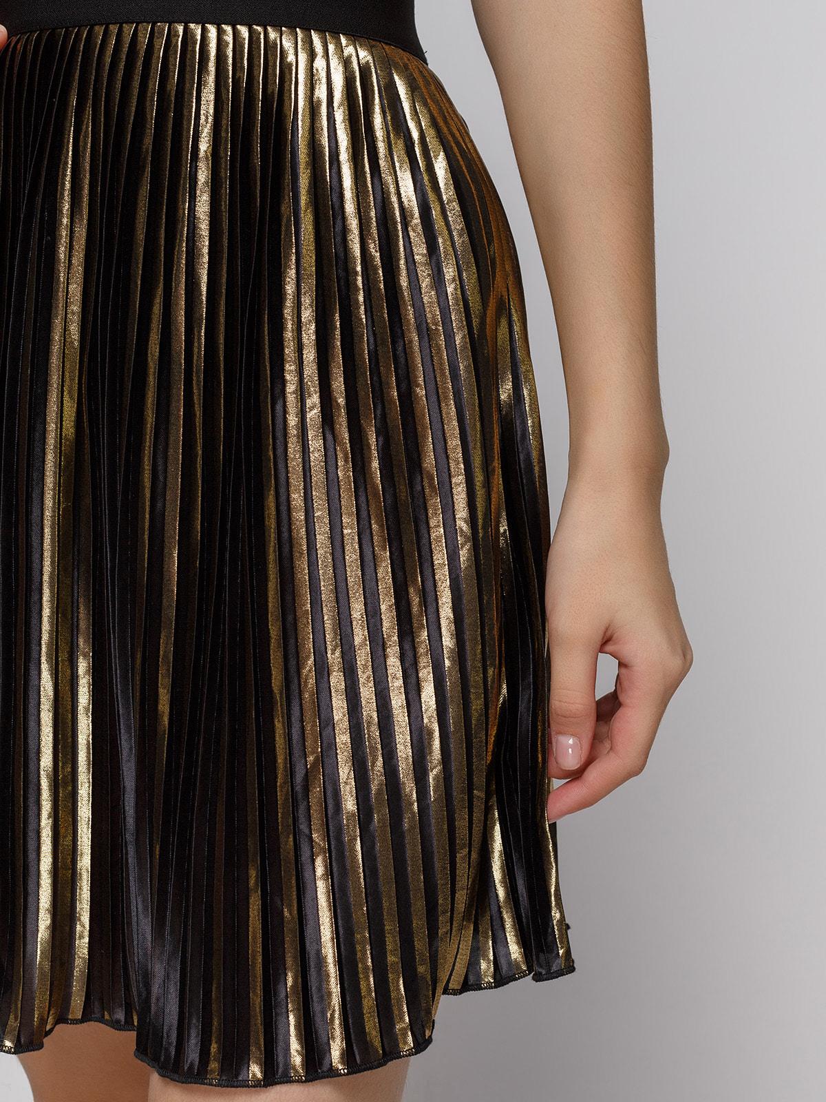 Юбка золотистого цвета | 4631052 | фото 4