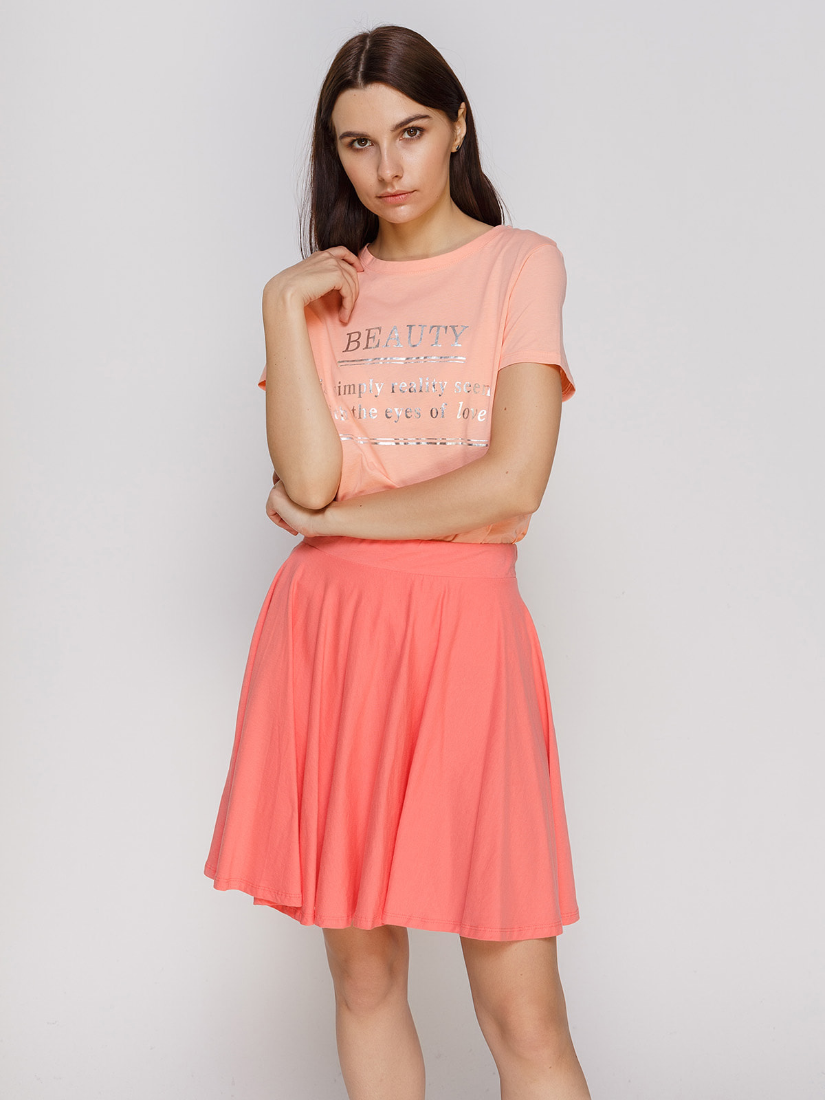 Футболка персикового цвета | 4630753