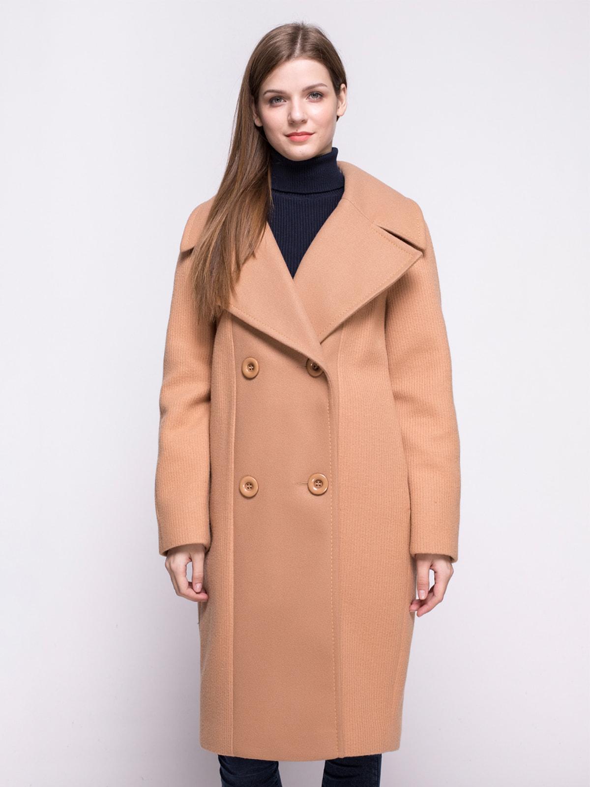 Пальто светло-коричневое   4683531