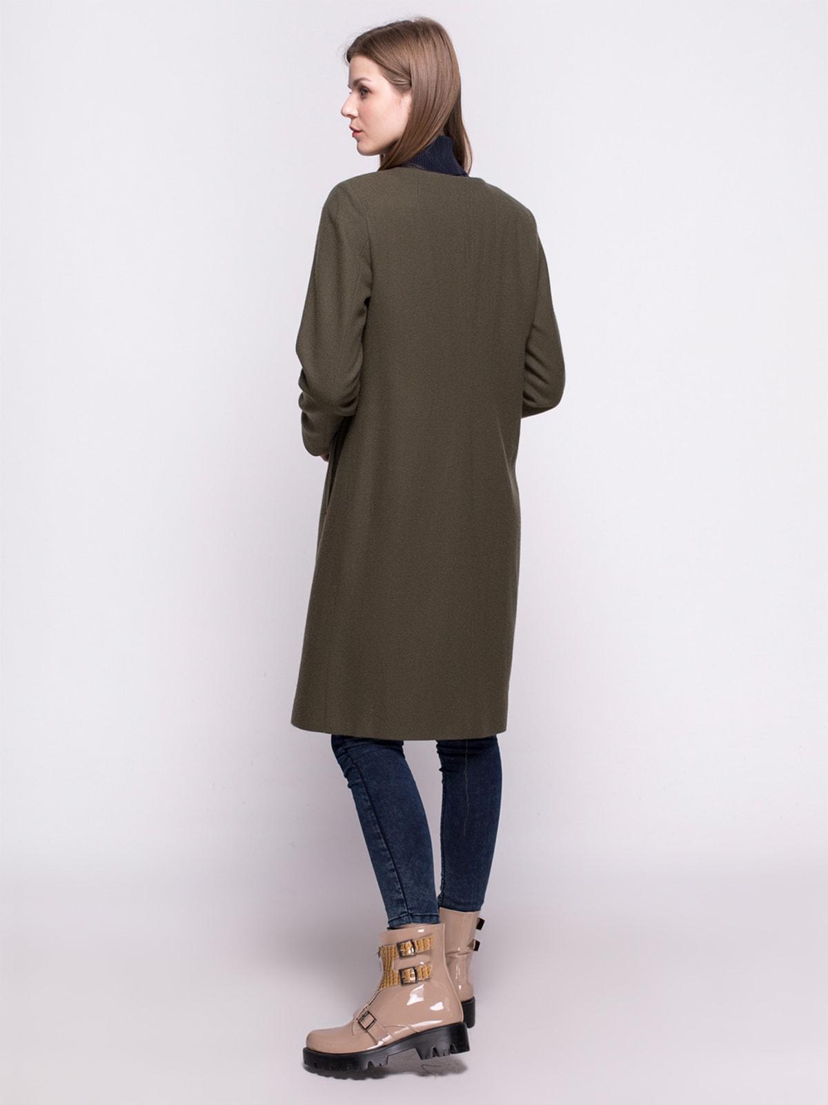 Пальто оливкового цвета | 4683543 | фото 3