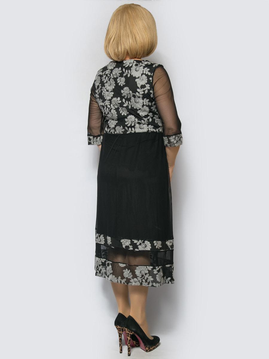 Платье серое | 4688728 | фото 2