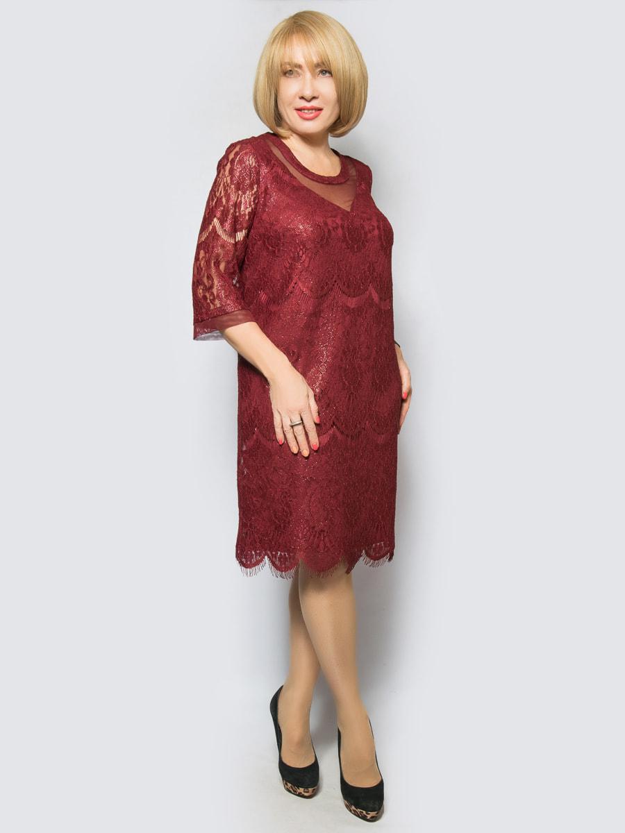 Платье бордовое | 4688733