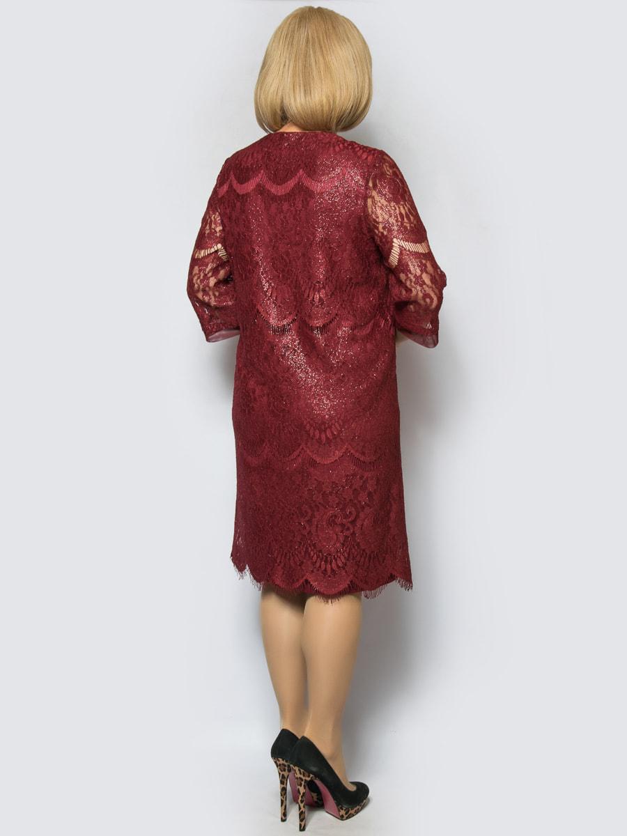 Платье бордовое | 4688733 | фото 2
