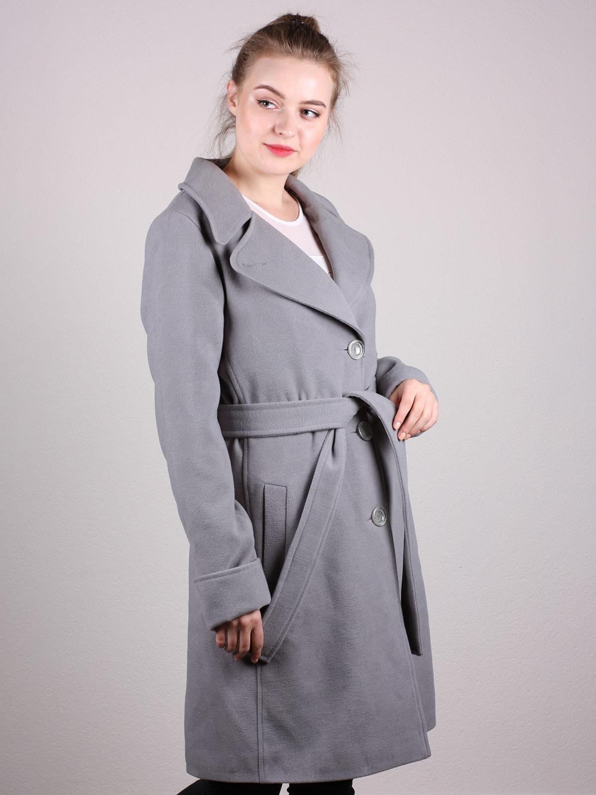 Пальто серое | 4690593
