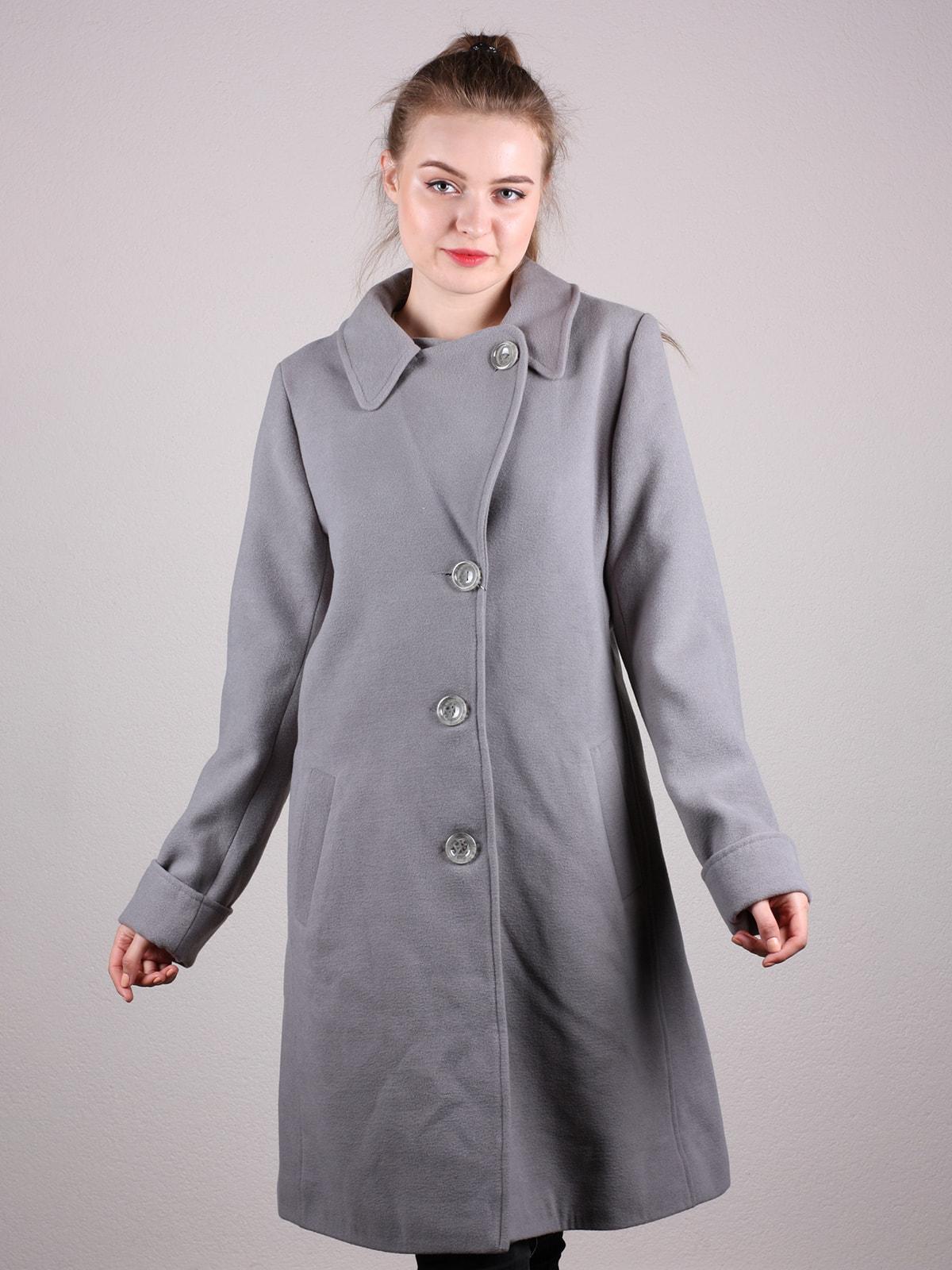 Пальто серое | 4690593 | фото 2