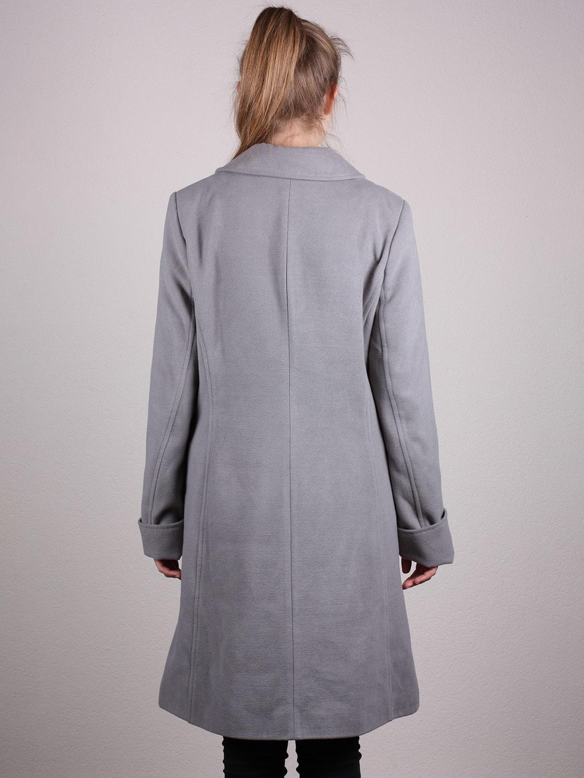 Пальто серое | 4690593 | фото 4