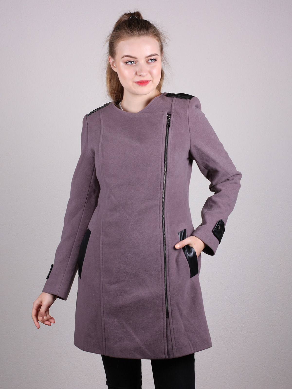 Пальто сиреневое | 4690597