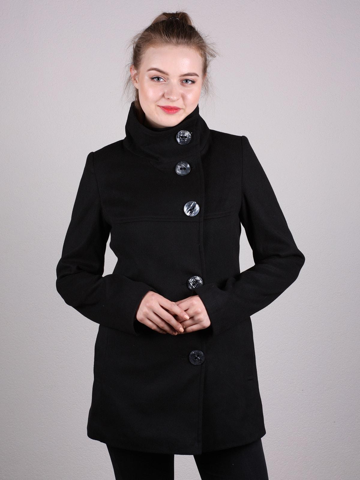 Пальто черное | 4690606