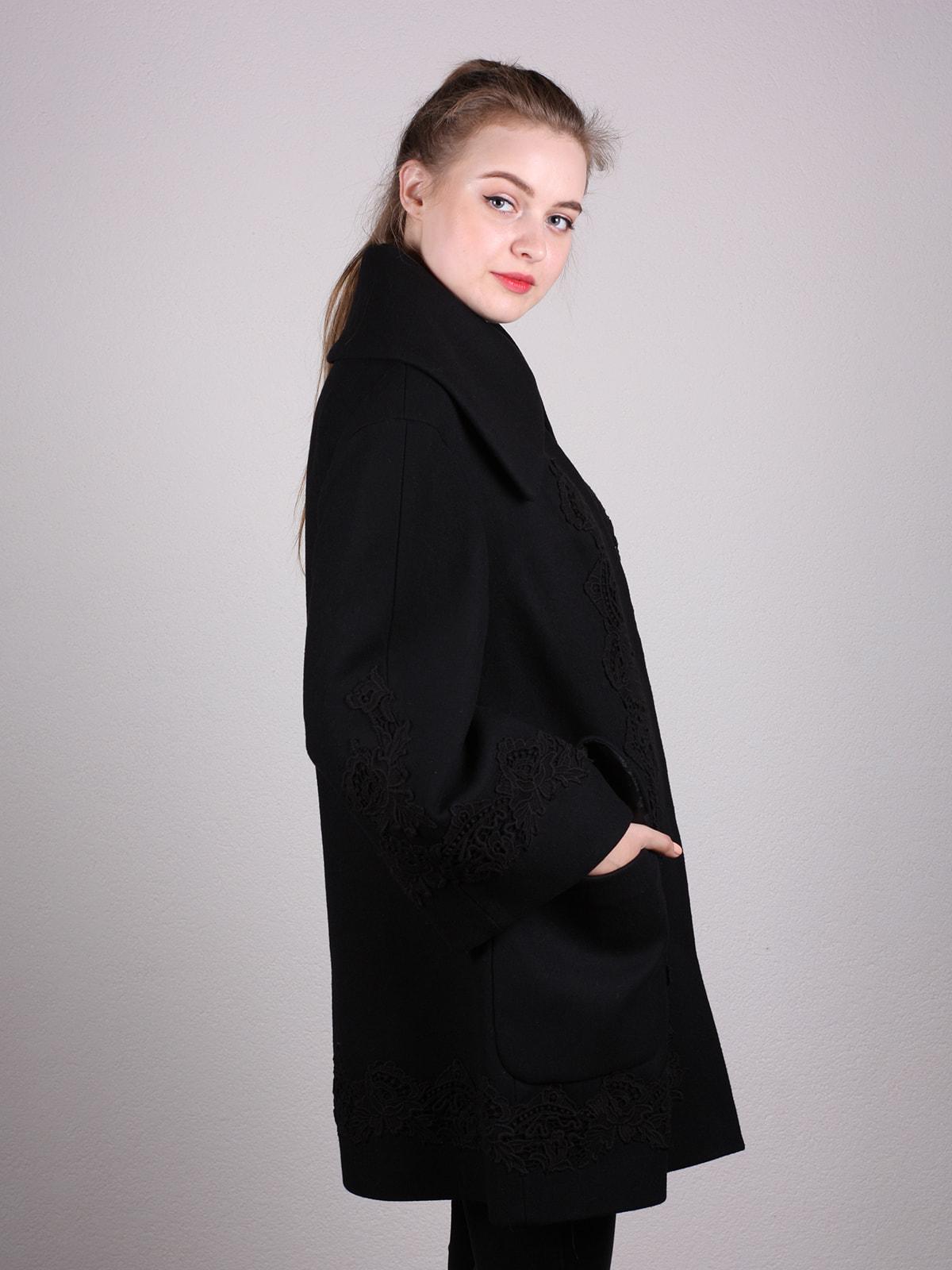 Пальто черное | 4690618 | фото 2
