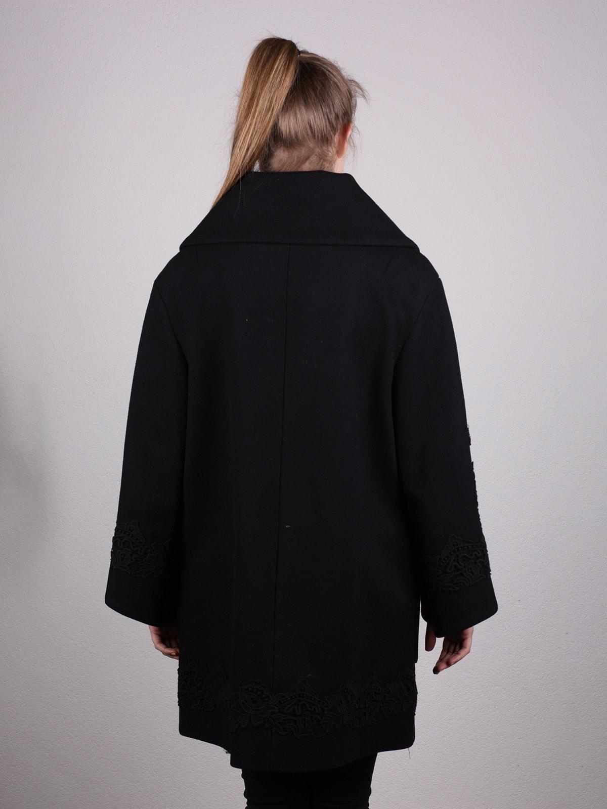 Пальто черное | 4690618 | фото 3
