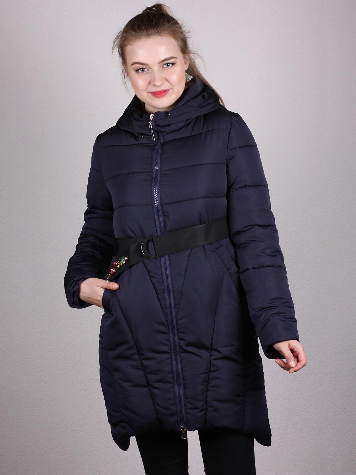 Пальто темно-синее   4690638