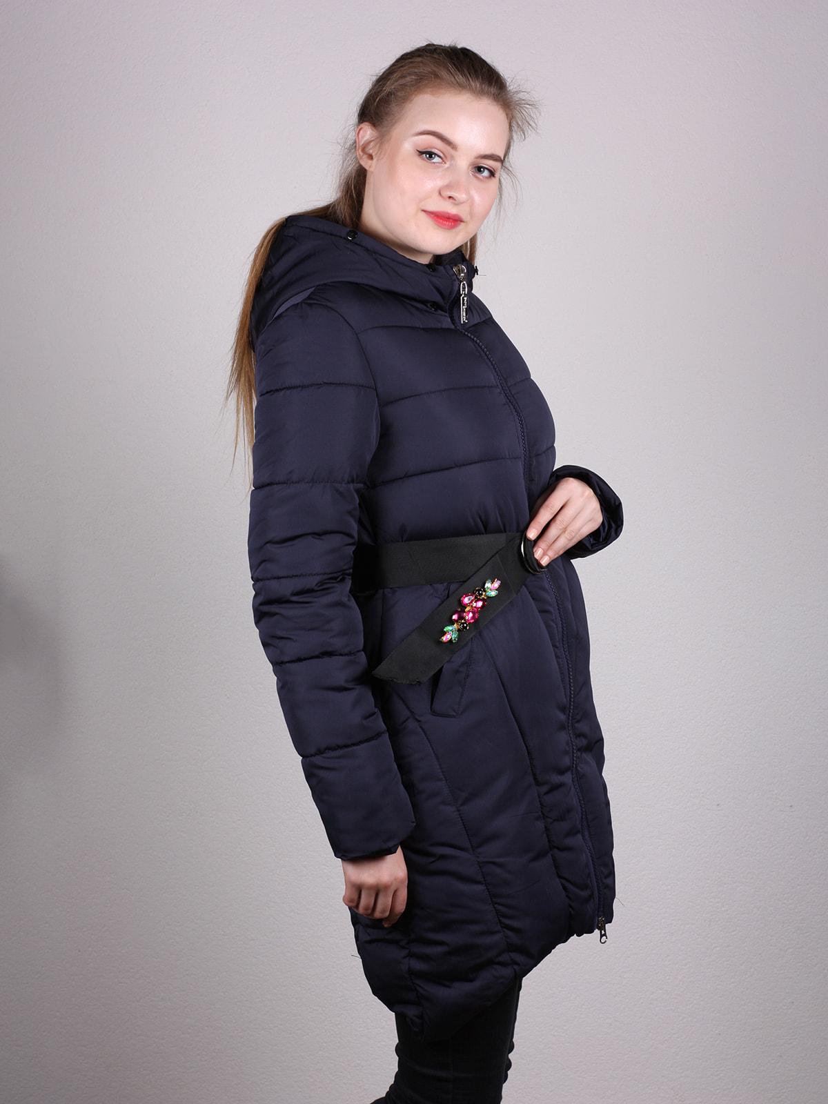 Пальто темно-синее   4690638   фото 2